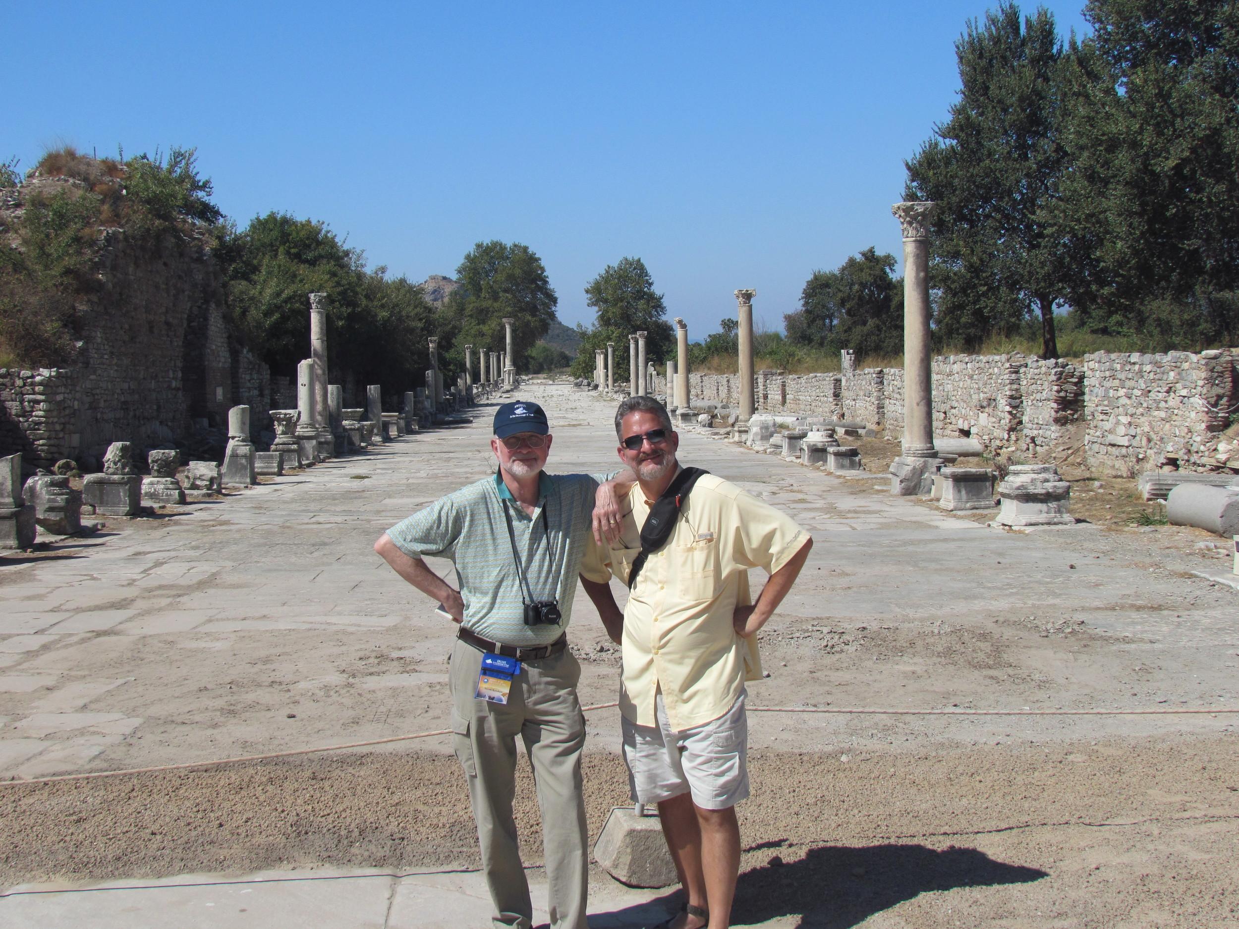 Ephesus roadway leading to ancient port