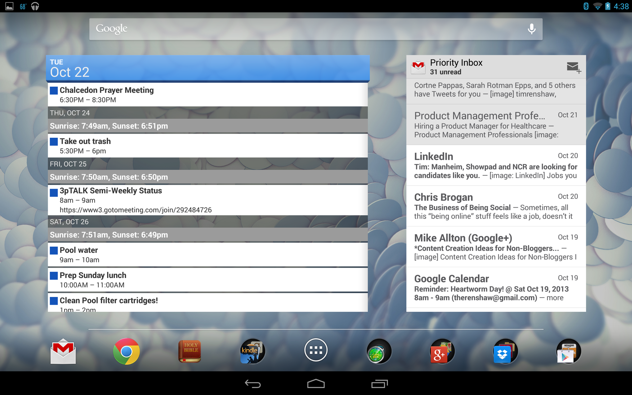 Tiles with decent layout and info like Android widgets... better!