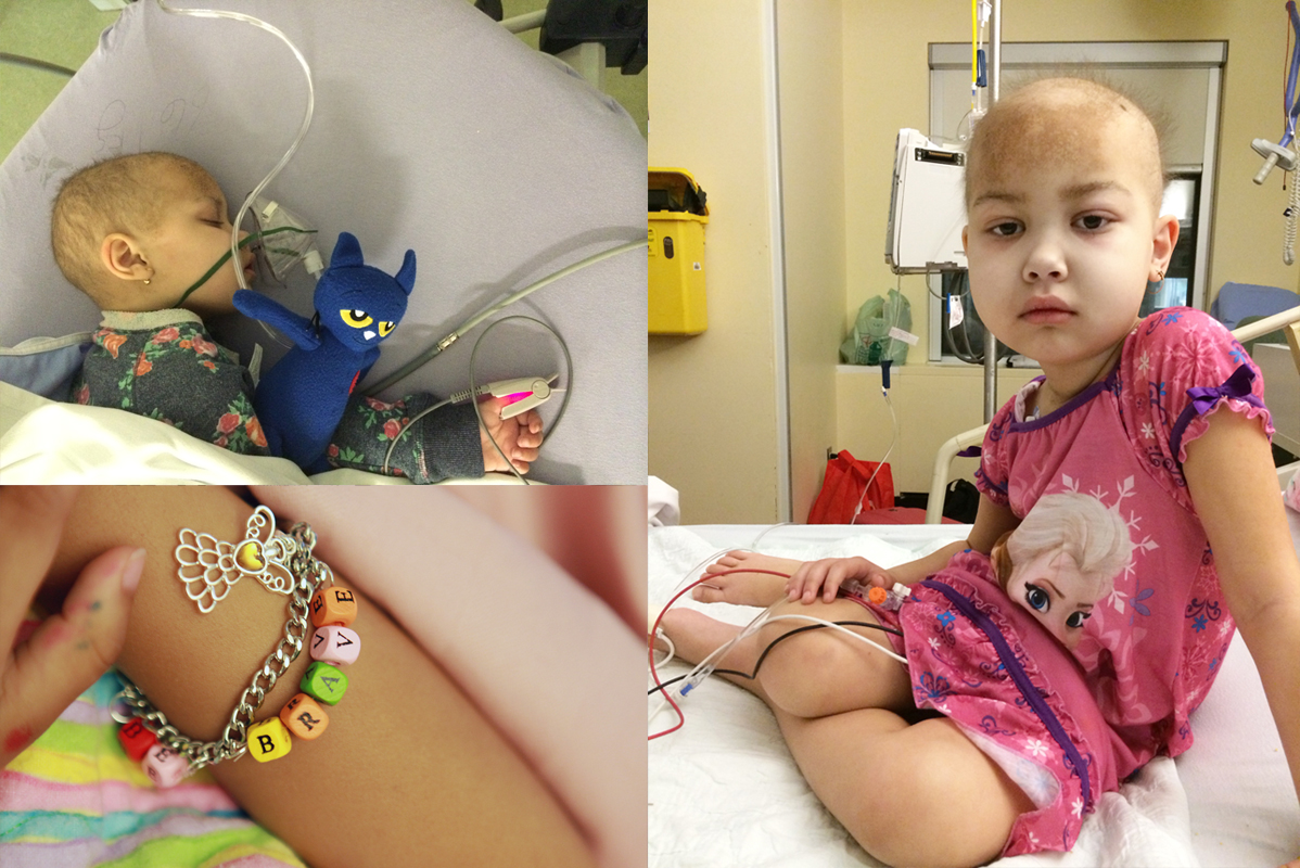 Every 9 weeks Desiray is sedated for a lumbar puncture.  Sometimes they do a bone marrow biopsy from her hip bone too.