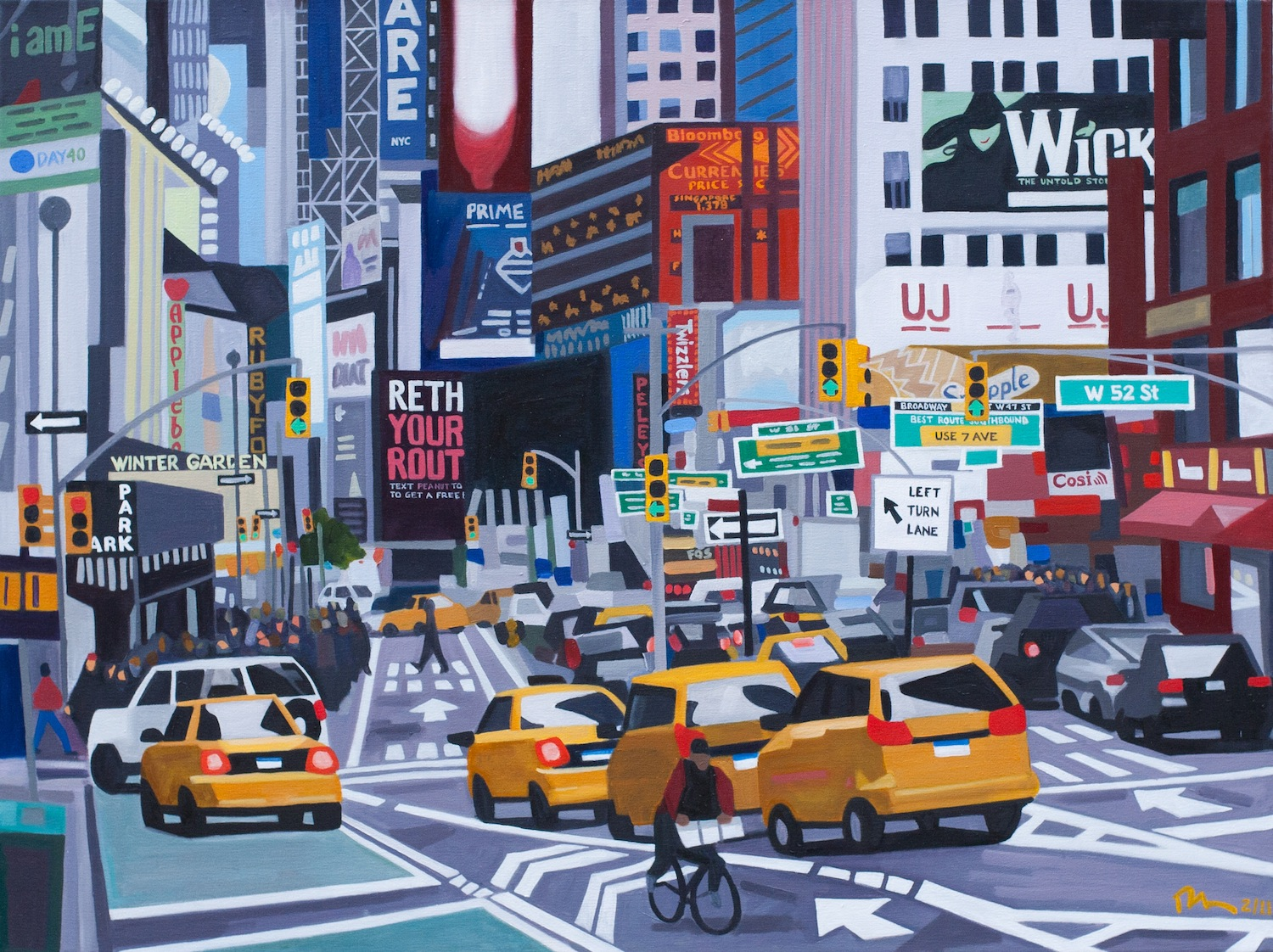 "52nd & Broadway - oil on linen - 30"" x 40"" - 2011"