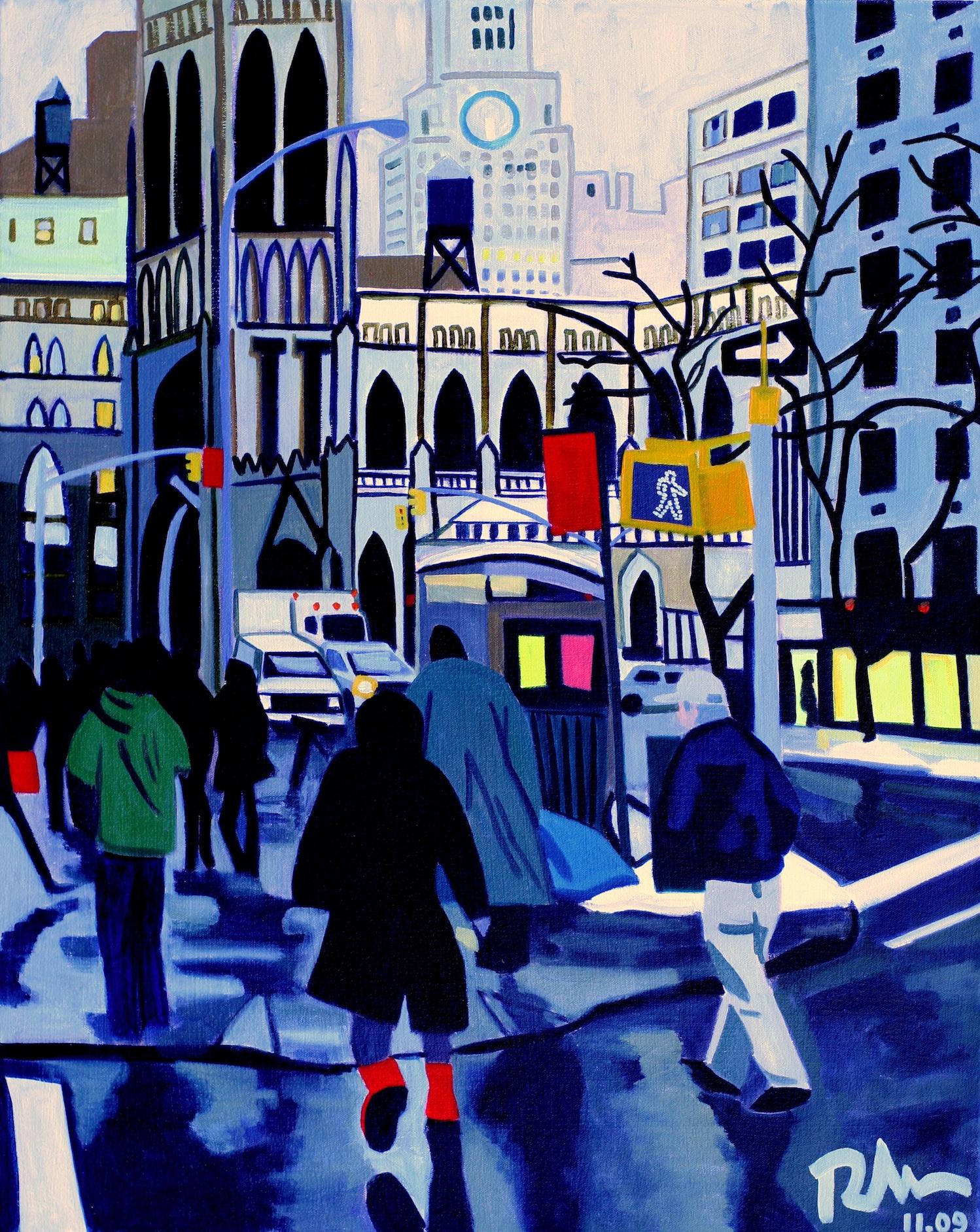 """NY Winter - oil on canvas - 30"""" x 24"""" - 2009"""