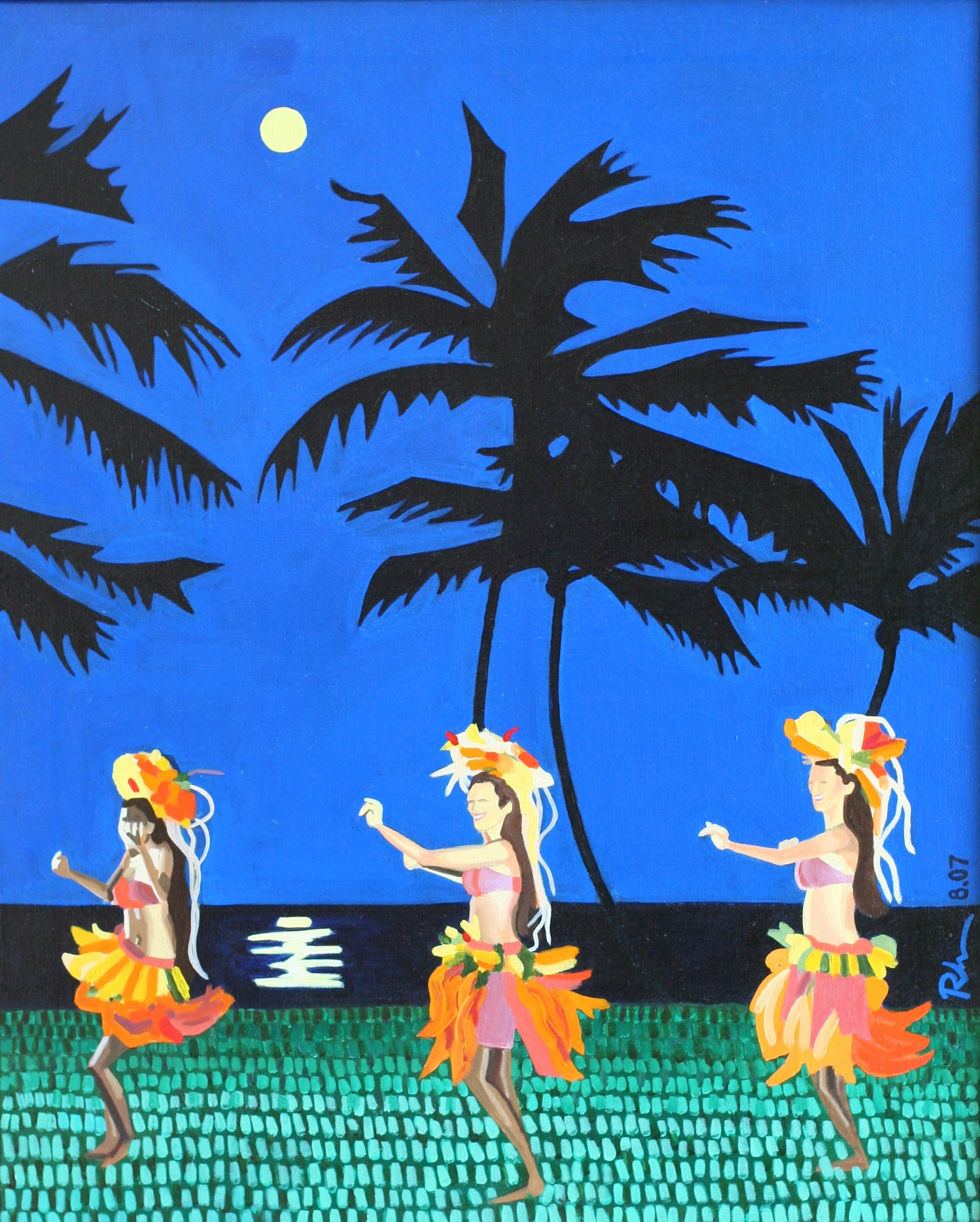 "Hawaiian Luau - oil on canvas - 28"" x 18"" - 2007"