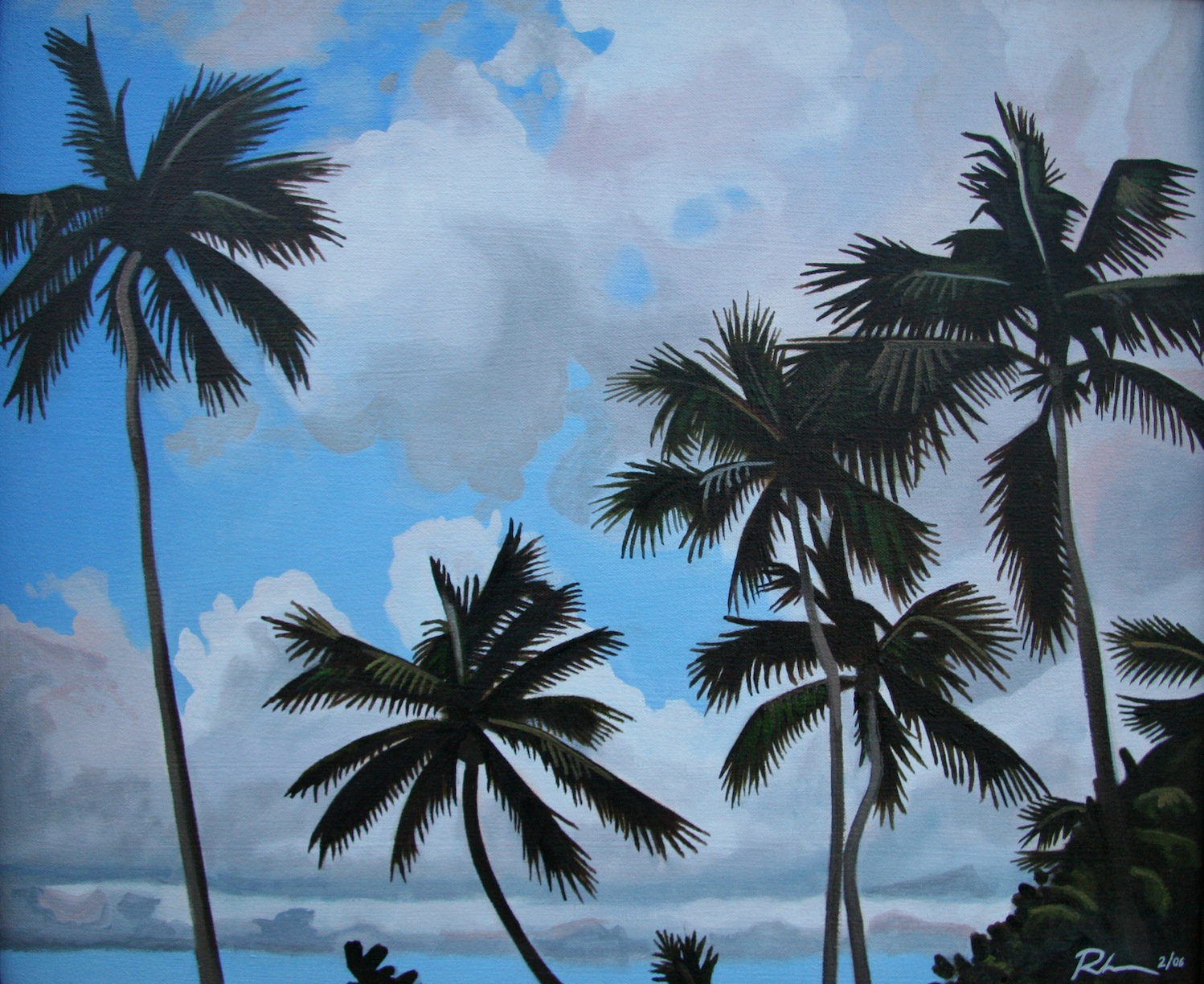 "Palms in the Keys - oil on canvas - 16"" x 20"" - 2006"