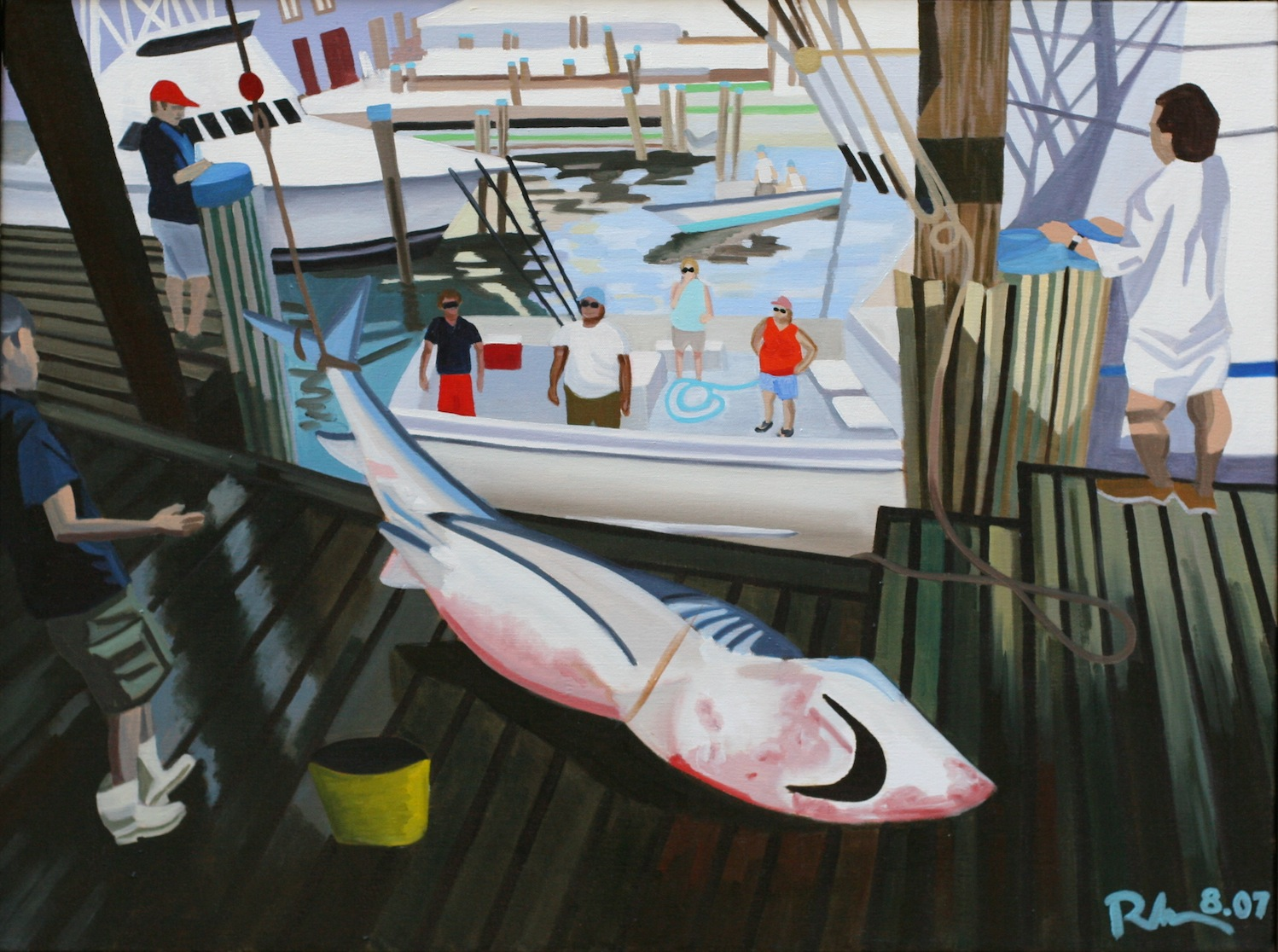 "Nantucket Shark - oil on canvas - 24"" x 32"" - 2007"