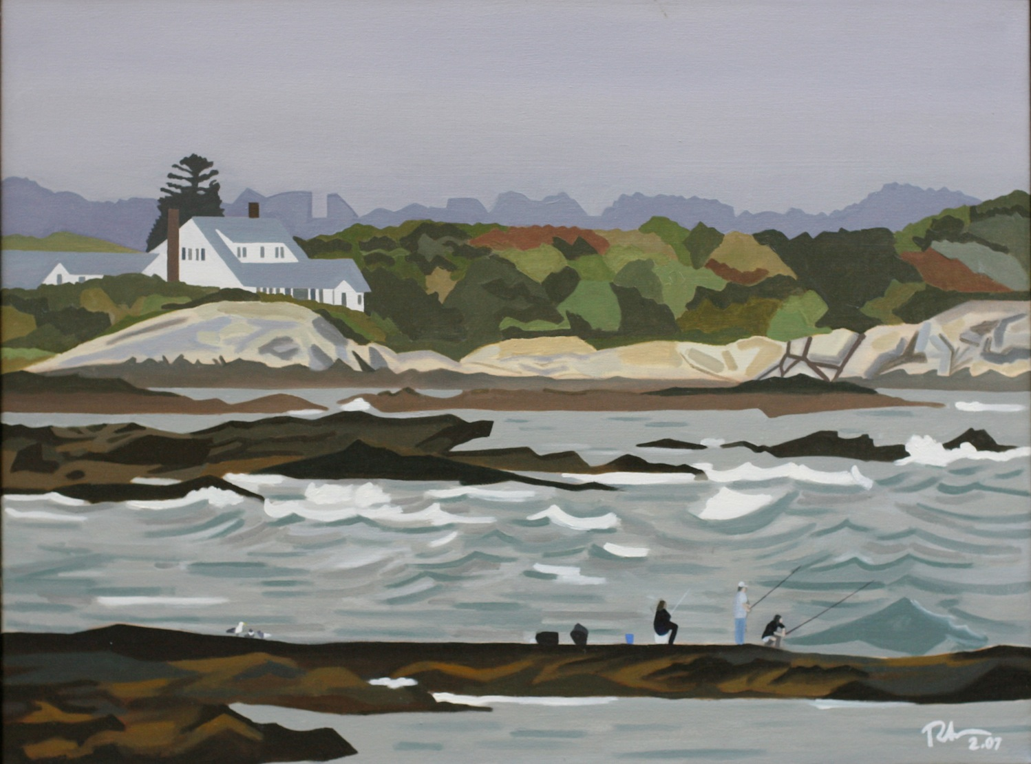 "Ocean Drive, Newport, R.I. - oil on canvas - 24"" x 32"" - 2007"