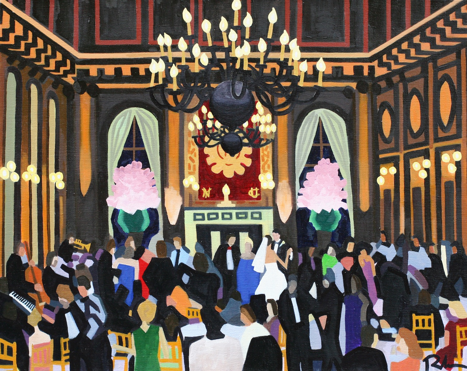 "University Club, NYC Wedding - oil on canvas - 24"" x 30"" - 2009"