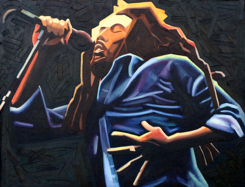 "Marley - oil on canvas - 28"" x 36"" - 1999"