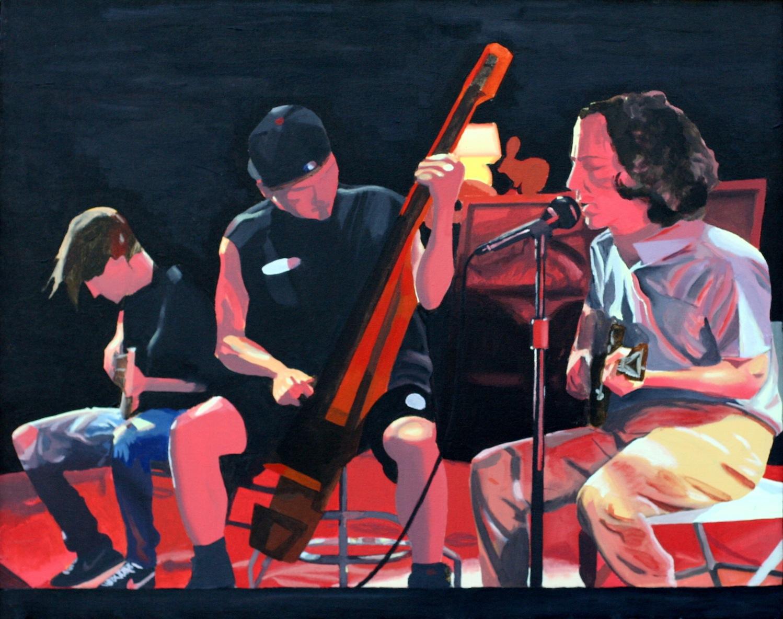 "Pearl Jam - acyrlic on canvas - 25"" x 30"" - 1996"