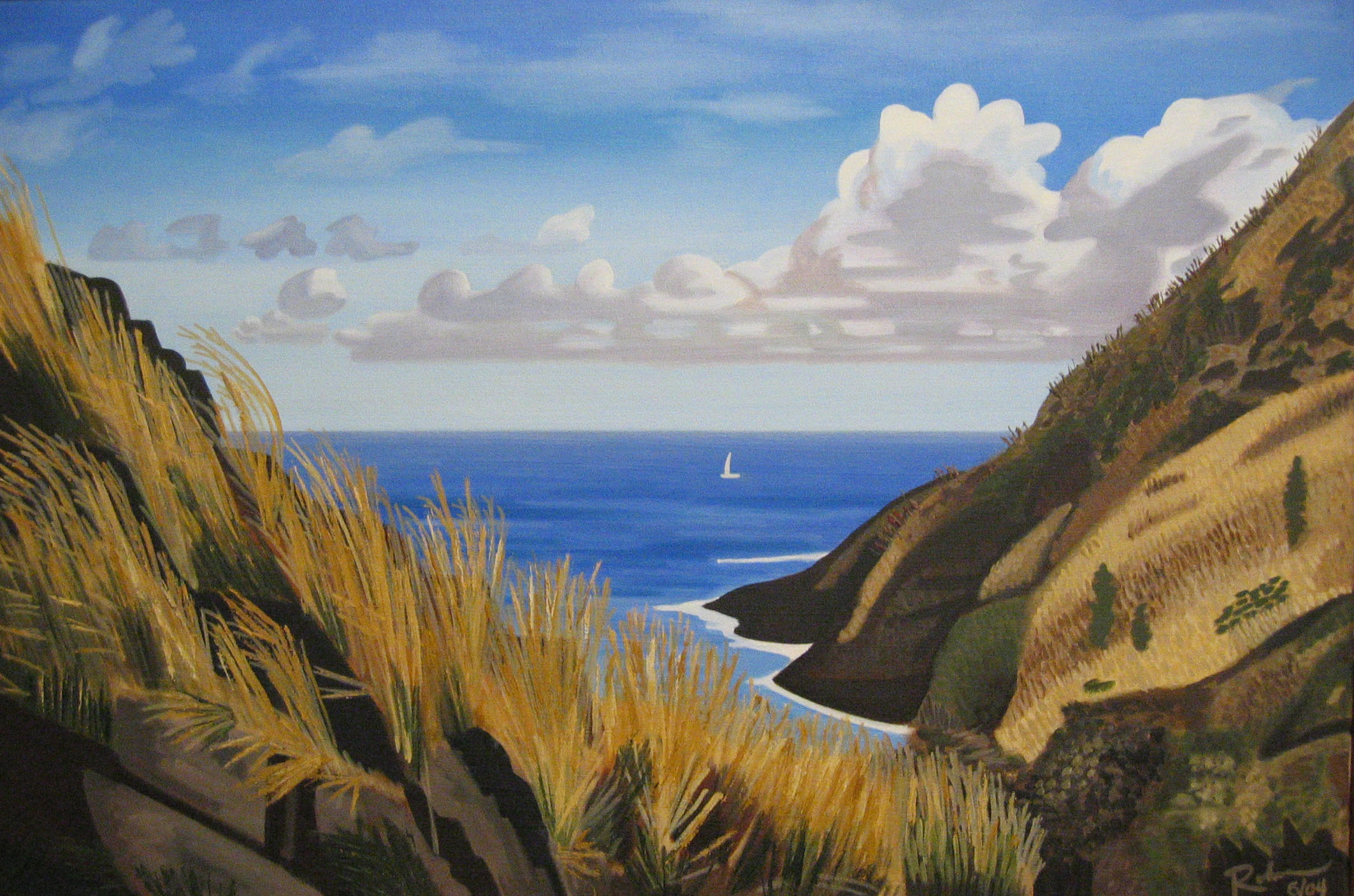 "St. Thomas view - oil on canvas - 24""x 36"" - 2004"