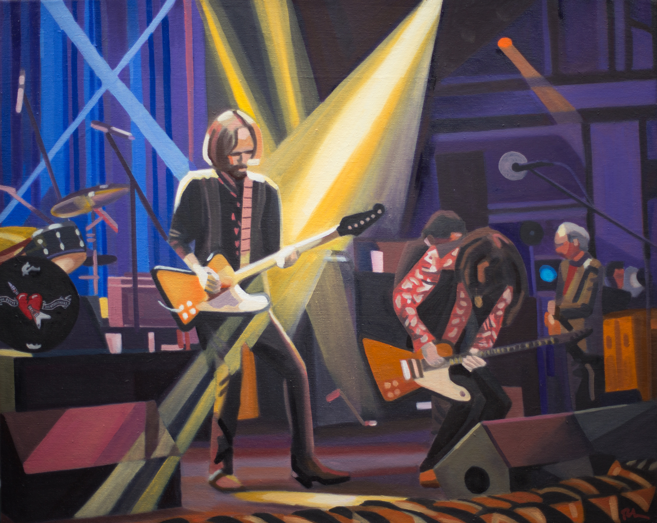 "Tom Petty & the Heartbreakers @ Beacon Theater, NYC - oil on canvas - 24"" x 30"""