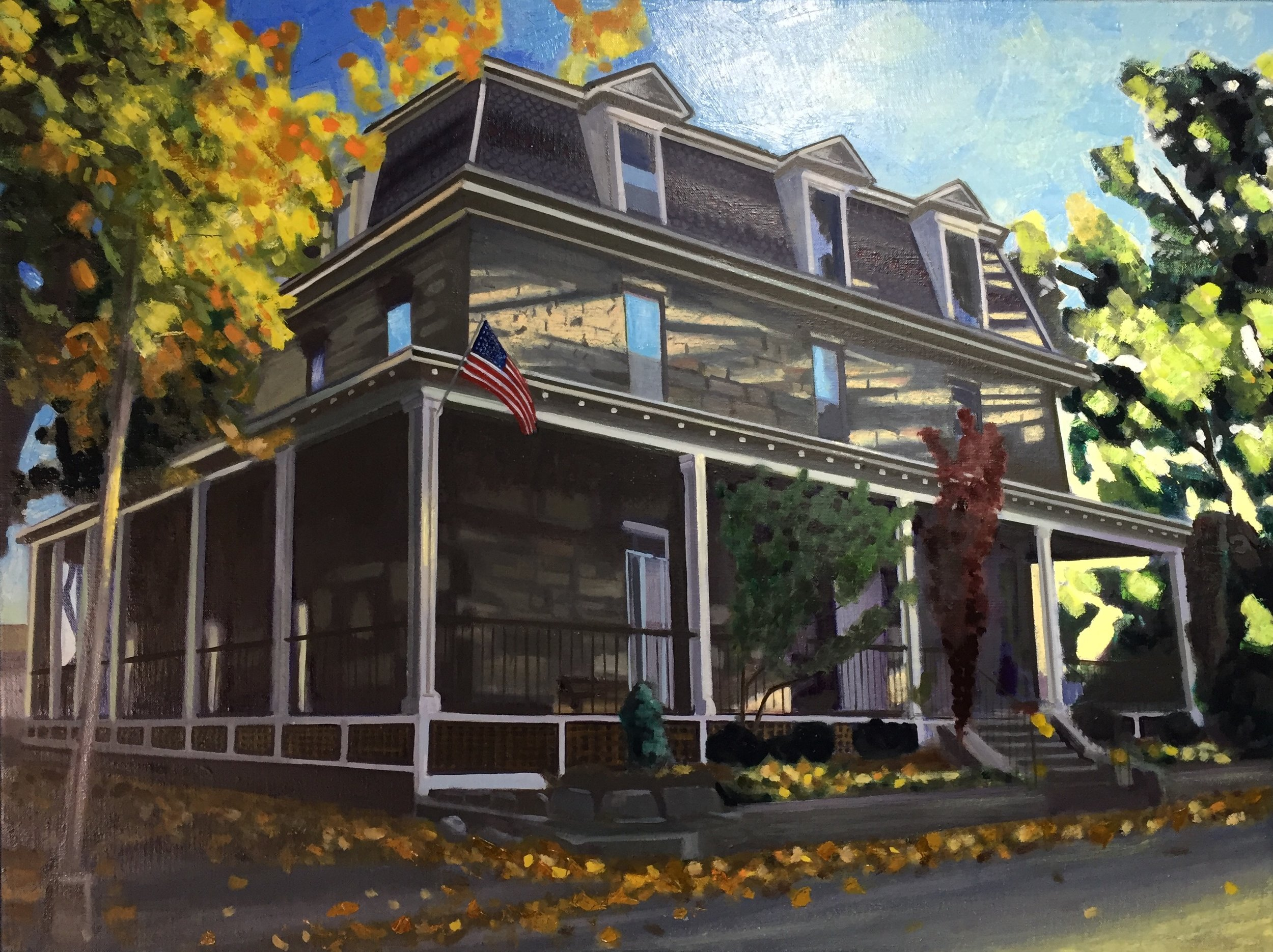 "Historic Newport Home 24"" x 32"""