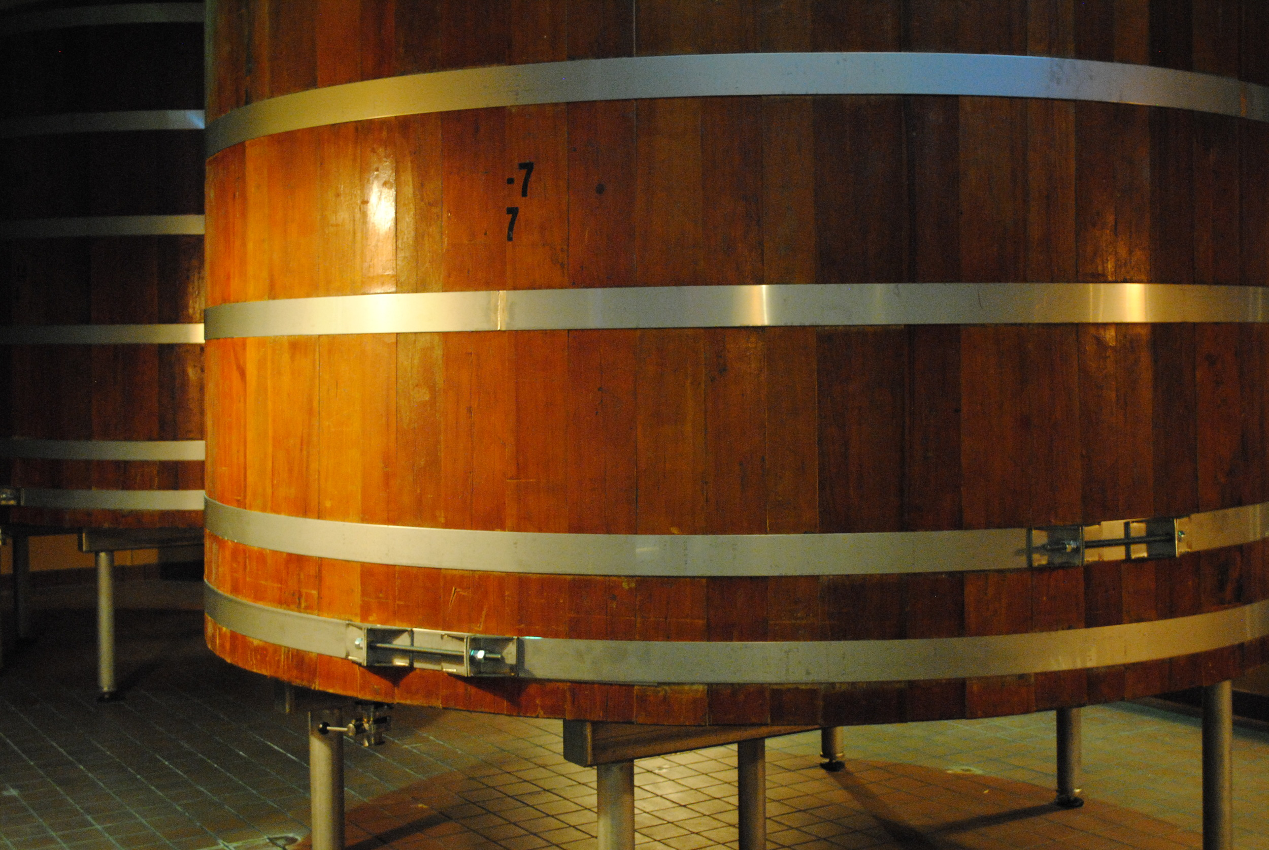 The repurposed Stroh's open fermentors stand ready for an upcoming Bell's brew