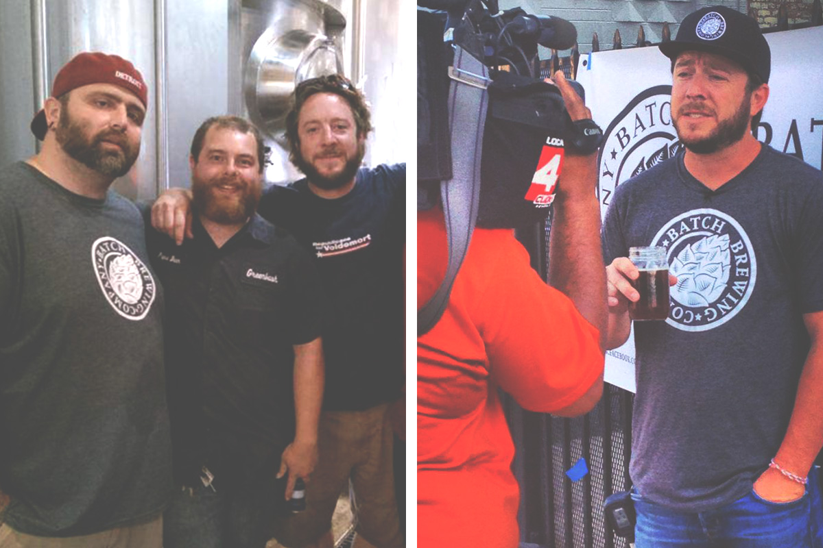 Jason & Stephen with Greenbush for their collaboration brew. And Right, Stephen promoting, hustle'n.