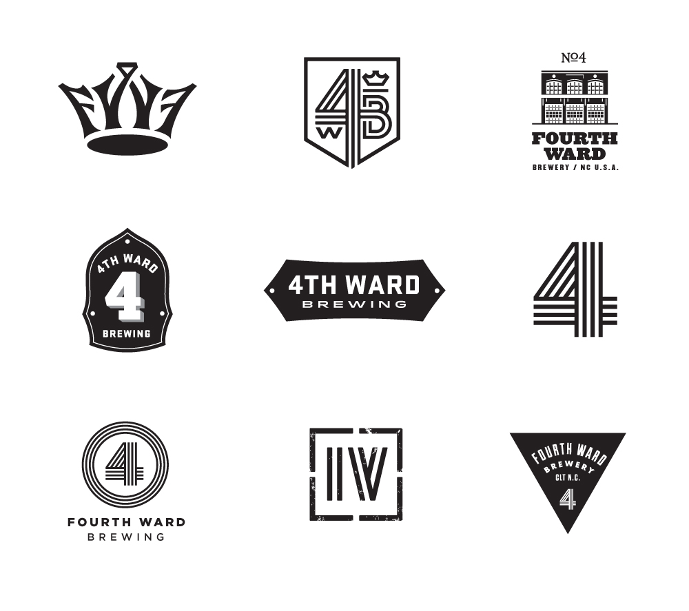 Initial concepted logos
