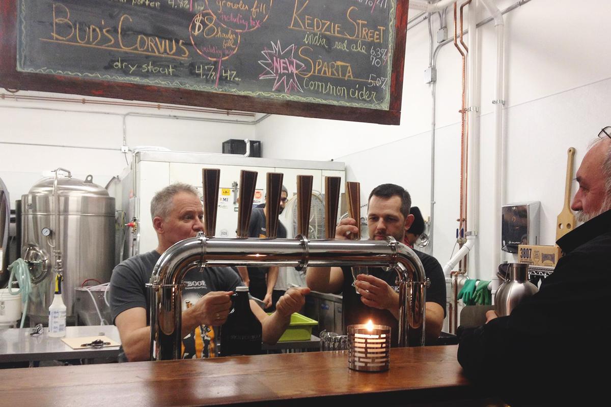 Seek out Sketchbook Brewing's back-alley taproom.  (Photo from Sketchbook's Facebook)