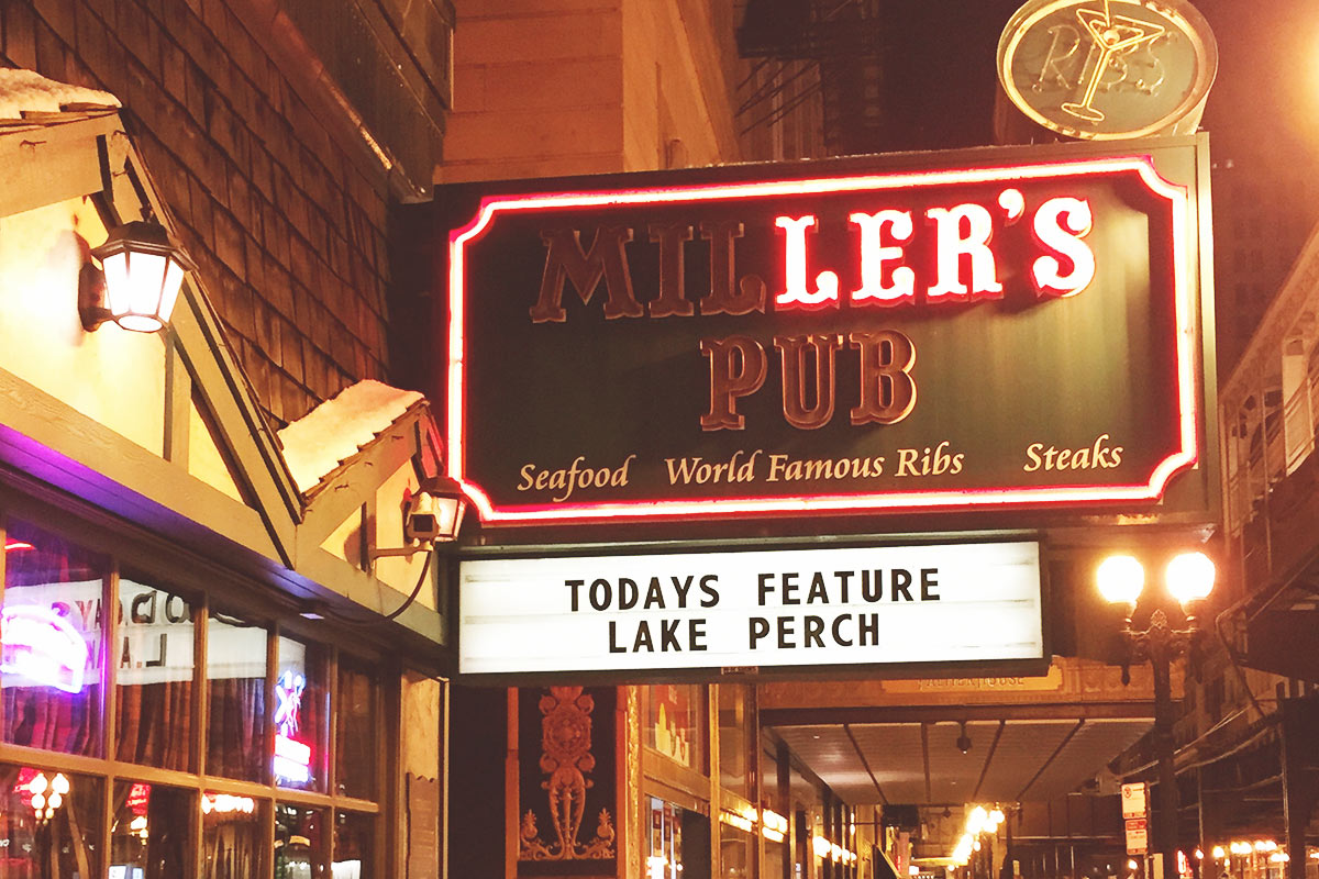 Miller's Pub is a great place to grab a bite to eat and a great beer.