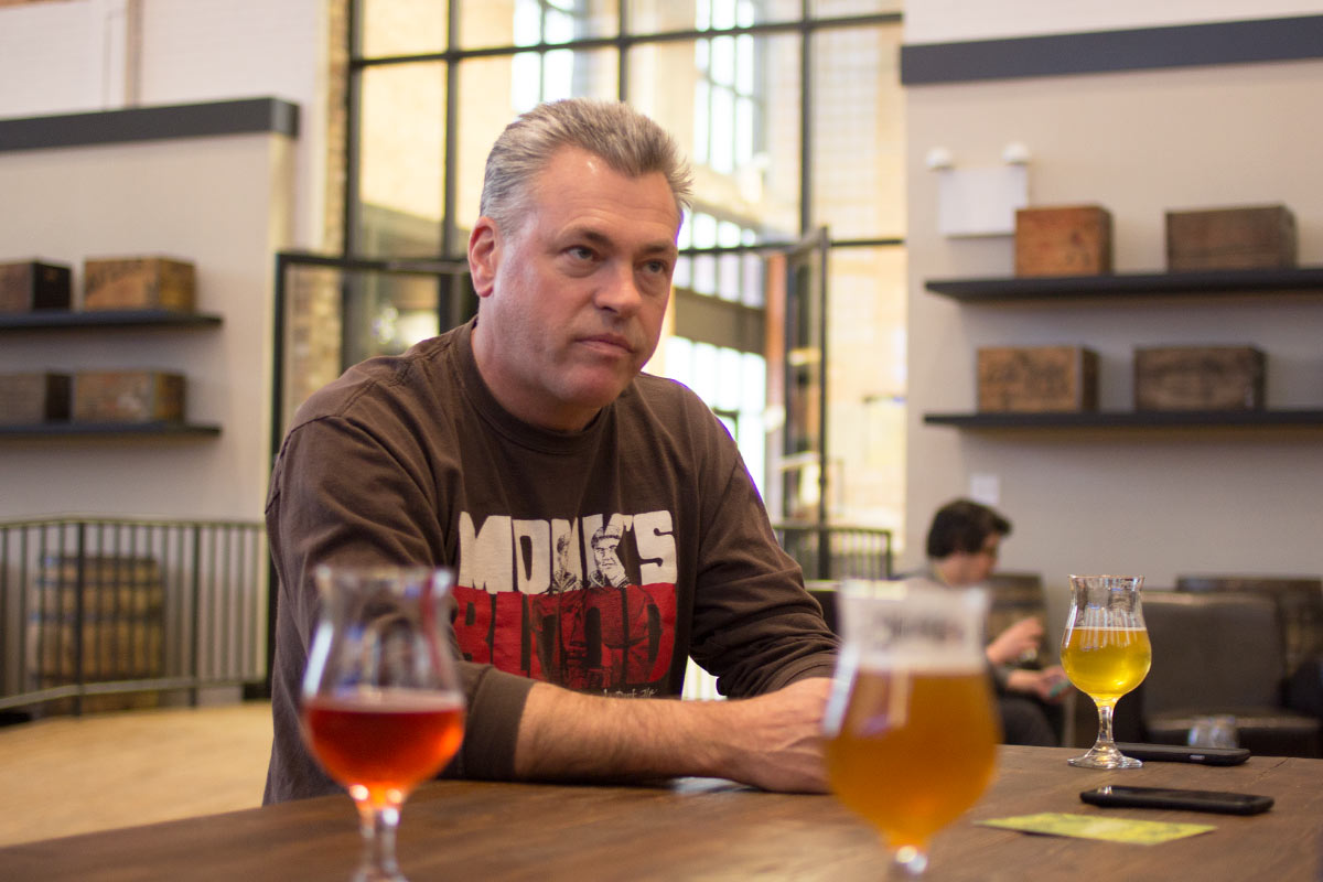 21st Amendment's Nico Freccia sits down to discuss entry to the Chicago market. [Photo: Robert Battista]