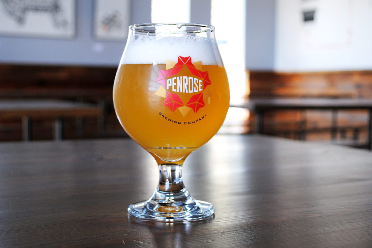 A Belgian-inspired  P2 Pale Ale  sits at the ready in Penrose's Geneva taproom  . [Photo: Jack Muldowney]