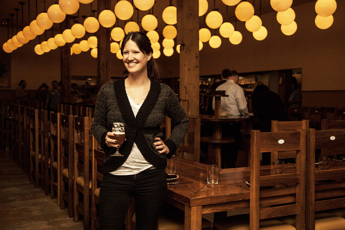 Publican's beverage coordinator,   Rebekah Graham, talks beer and wine.  [  Photo: Melinda Myers]