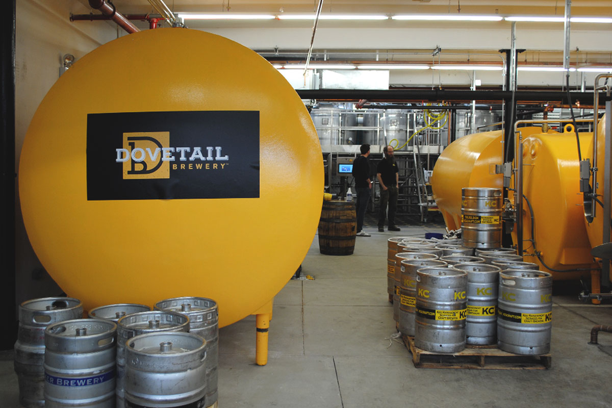 Dovetail Brewery1800 W. Belle Plaine Ave. –  NorthcenterThe back-to-tradition brewer tucked on a neighborhood corner. Plus pretzels and sausage.