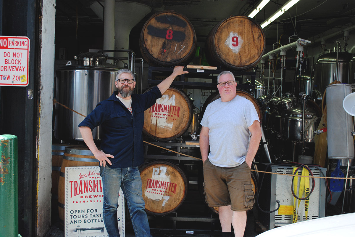 Transmitter Brewing Founders, Rob Kolb & Anthony Accardi