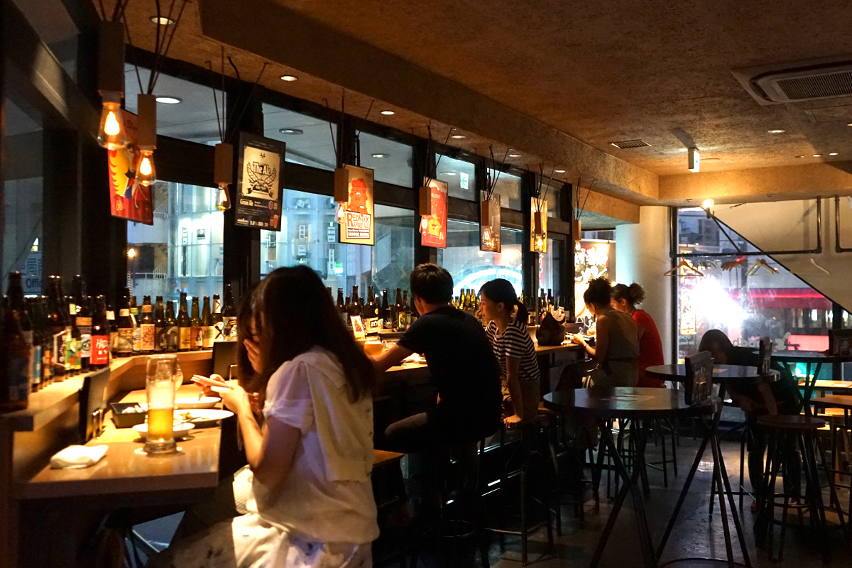 Shibuya's Goodbeer Faucets offers a cozy respite from Tokyo's busy streets.