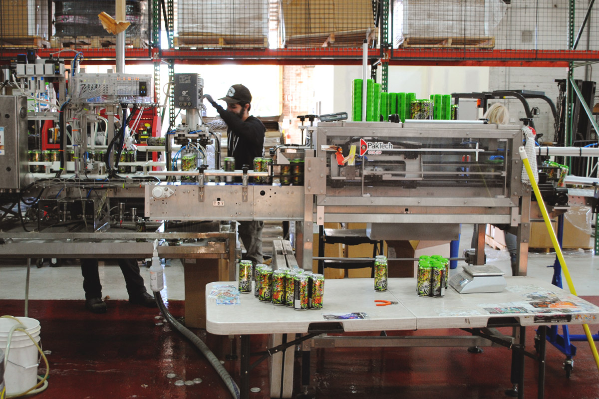 Packaging day at Pipeworks Brewing –Lizard King  gets ready for the shelves.