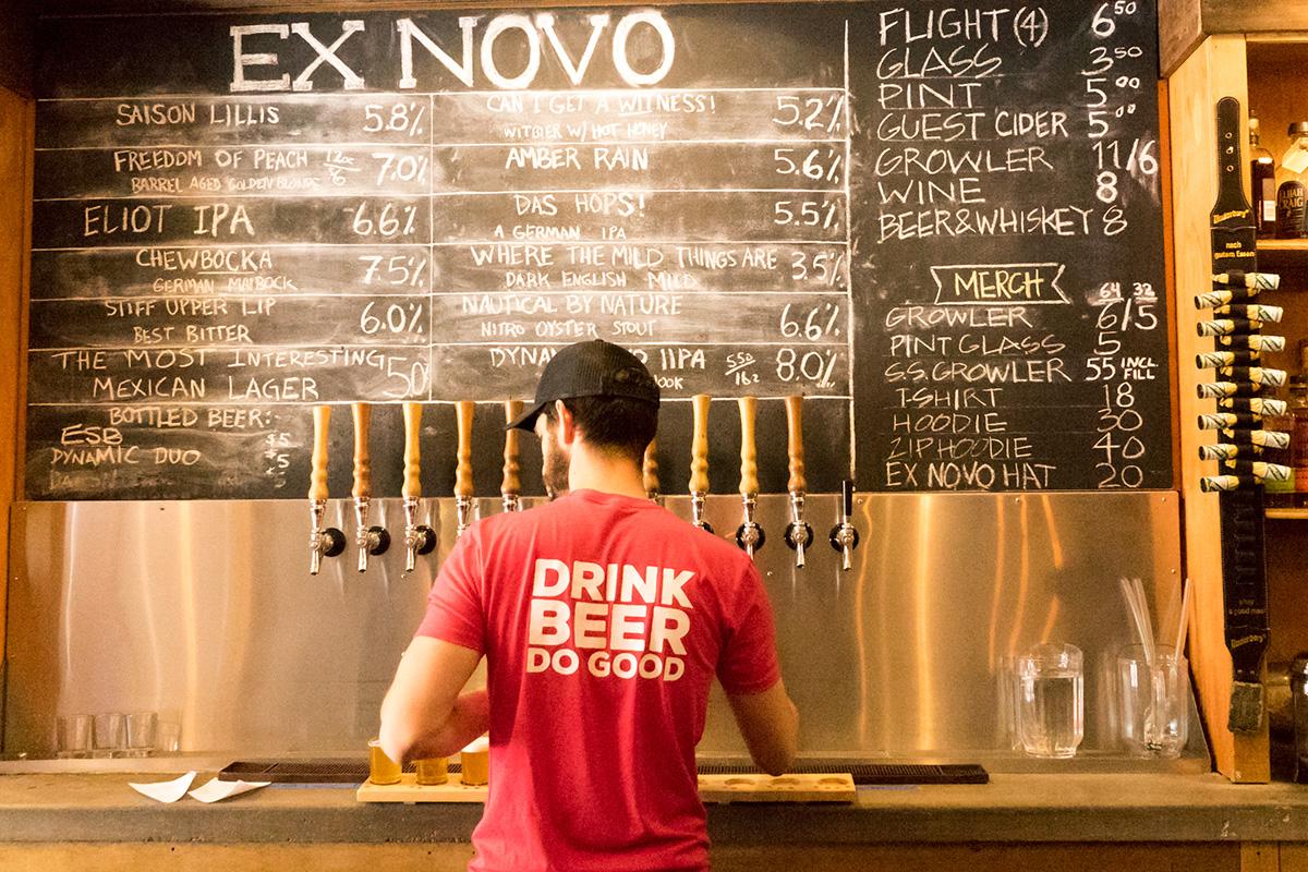 Portland, Oregon's unique not for profit brewery, Ex Novo.[Photo: Nick Costa]