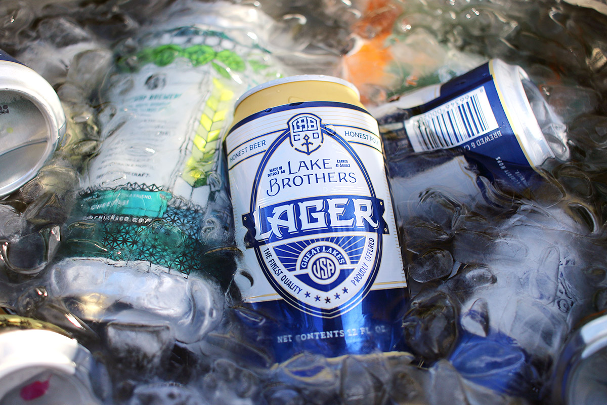Lake Brothers' Lager, the perfect every day drinker, meets the market in Detroit.[Photo: Nick Costa]