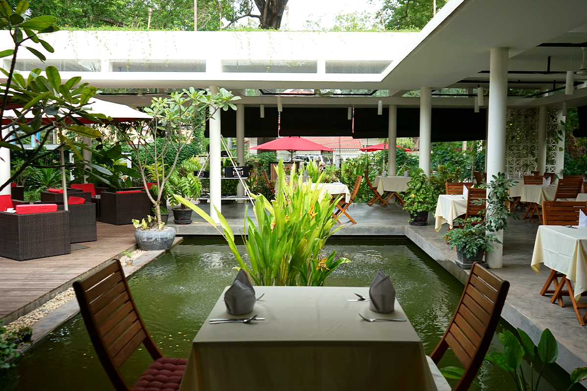 The casual and boutique seating area of Siem Reap Brewpub.