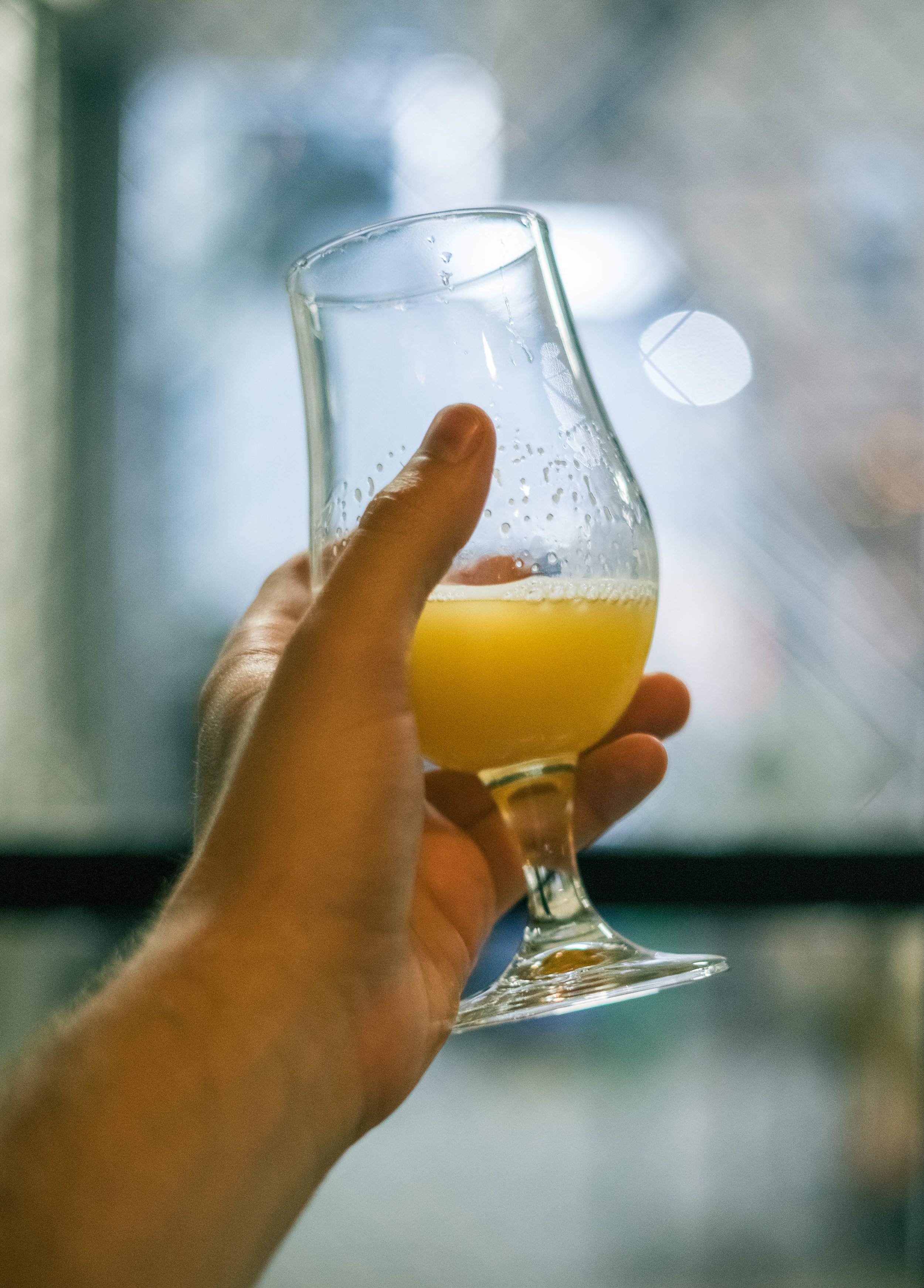 Snooze Juice , the first foray into NEIPAs by Forbidden Root, in the Fall of 2016.