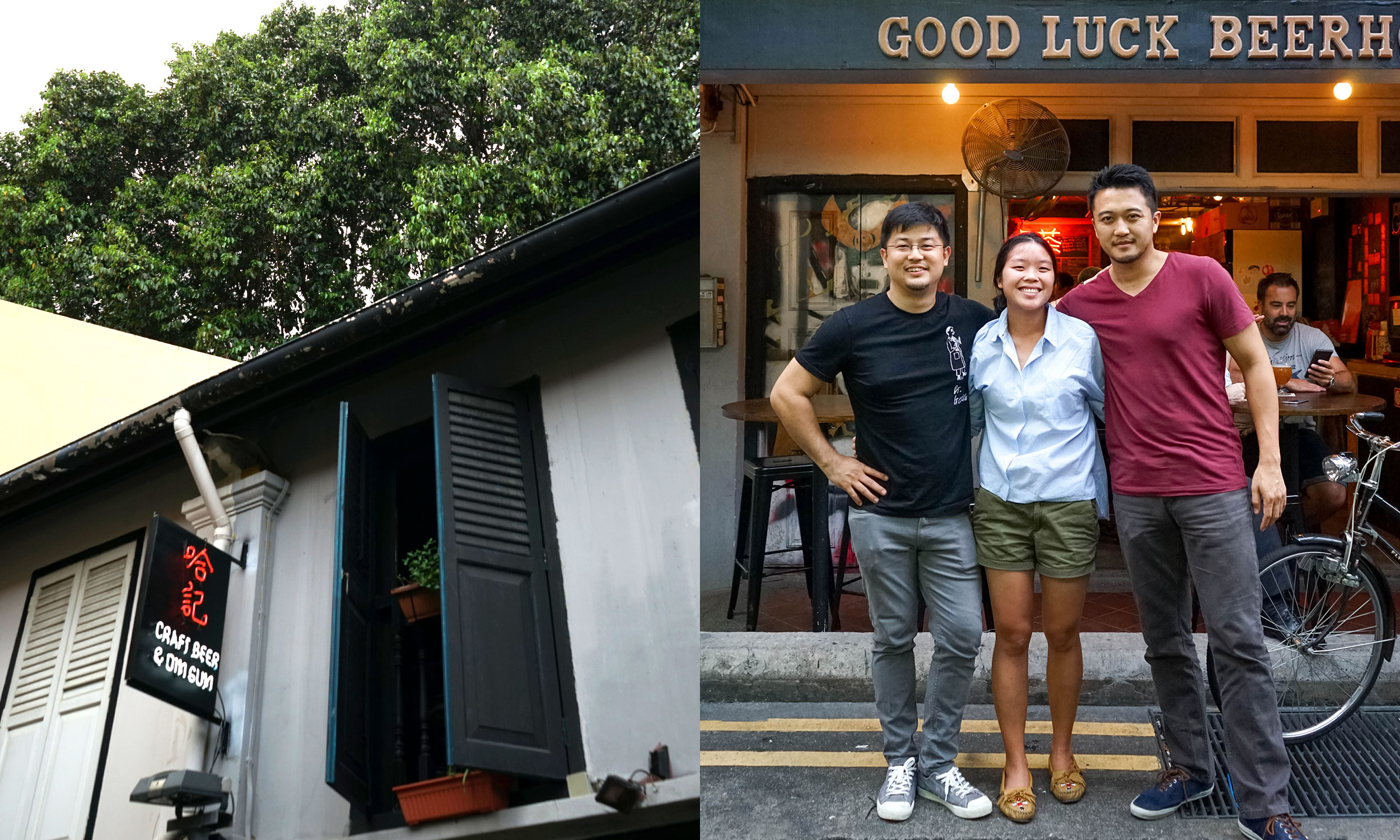 Kevin Ngan of Good Luck Beerhouse and Lesley Sim & Michael Wong, partners of Innocence Brewing