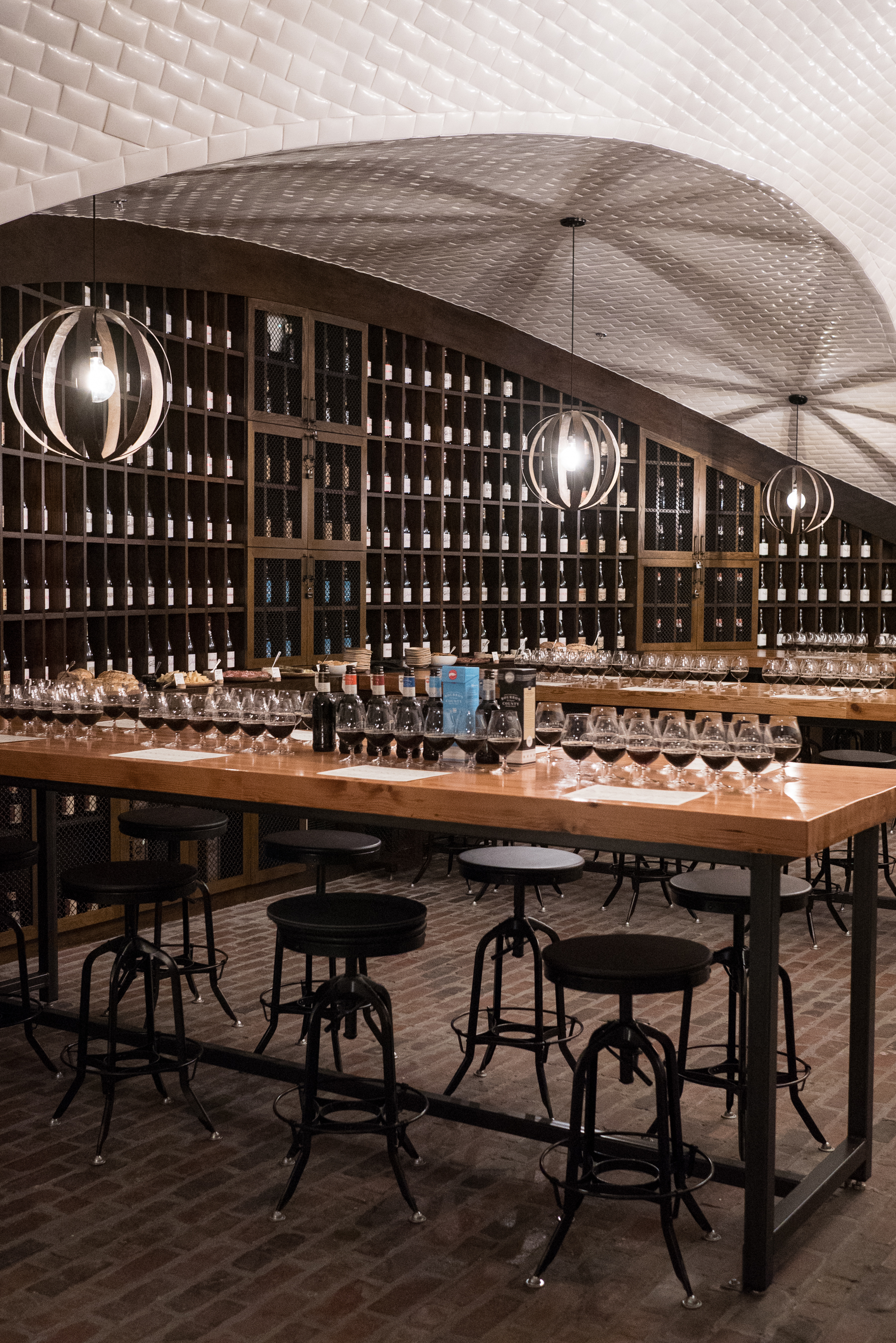 Goose Island's new Barrel House–complete with barrel vault ceilings–the venue for this year's tasting.