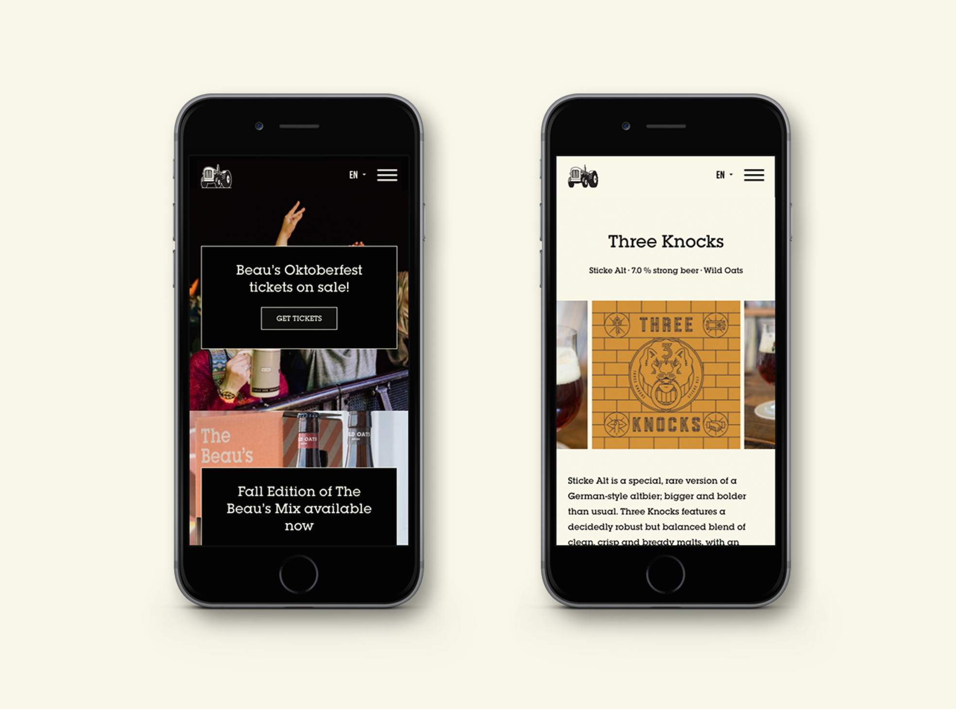 Web/Mobile design by  JP Brown
