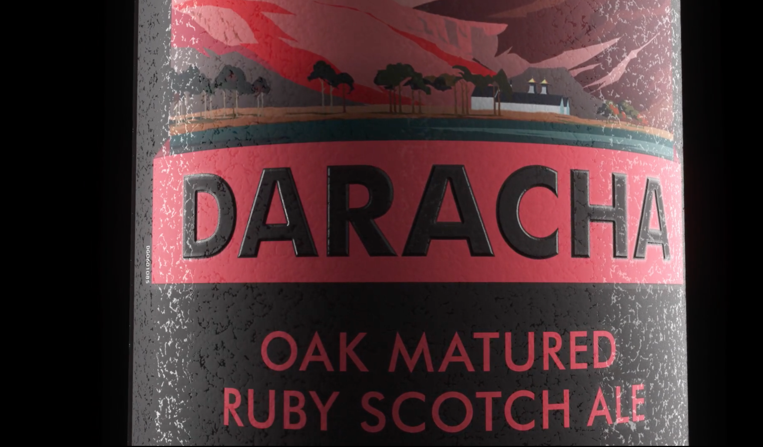 Textural detail of  Daracha  label.
