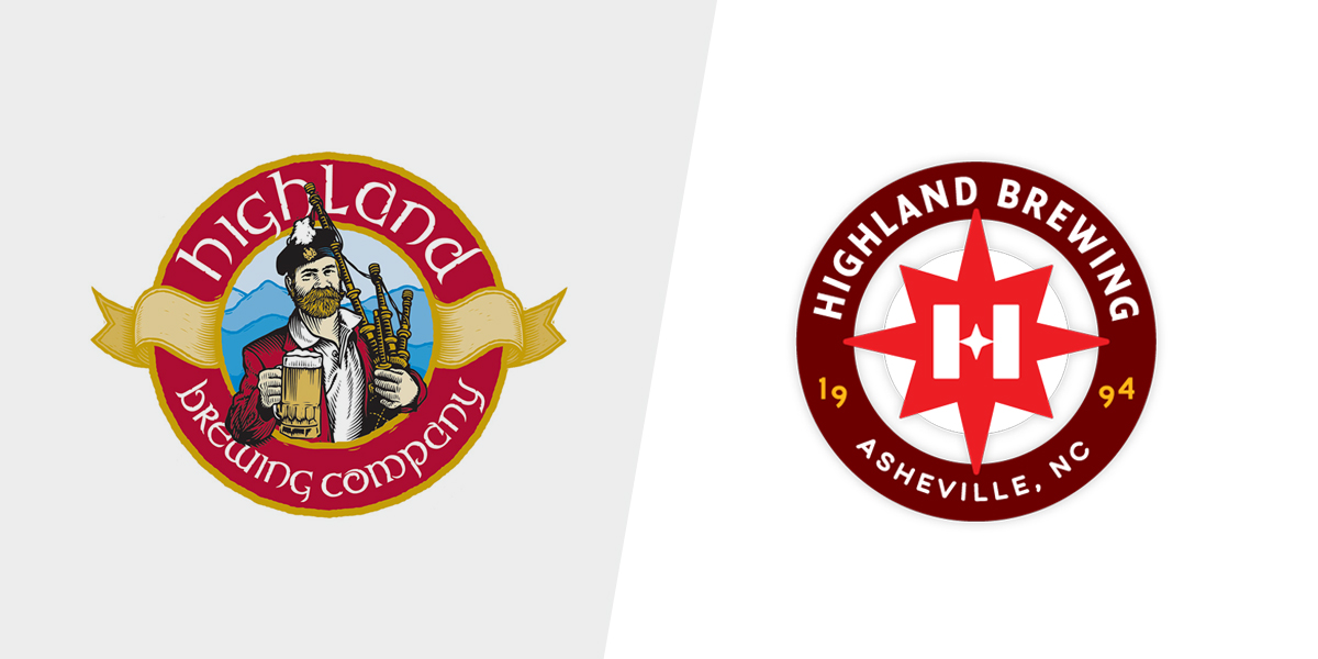 Logo before and after.