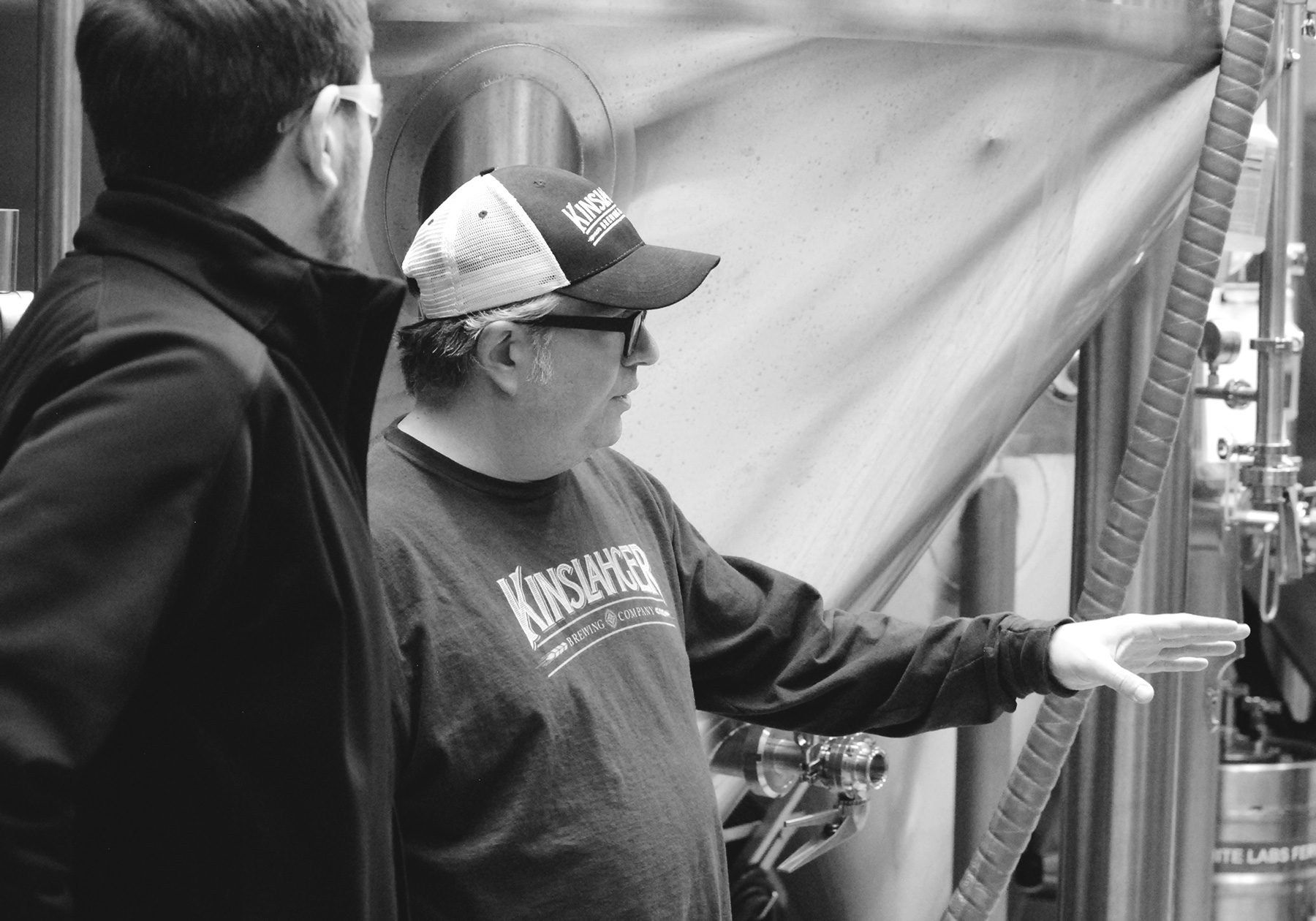 Co-Founder and brewer, Steve Loranz, speaks to the brewhouse setup on Roosevelt St.