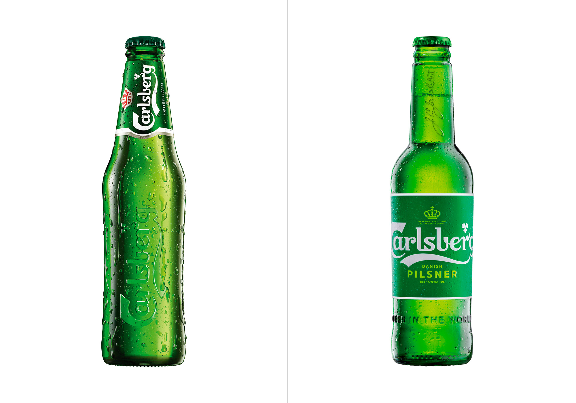 Bottle before & after (by way of Brand New)