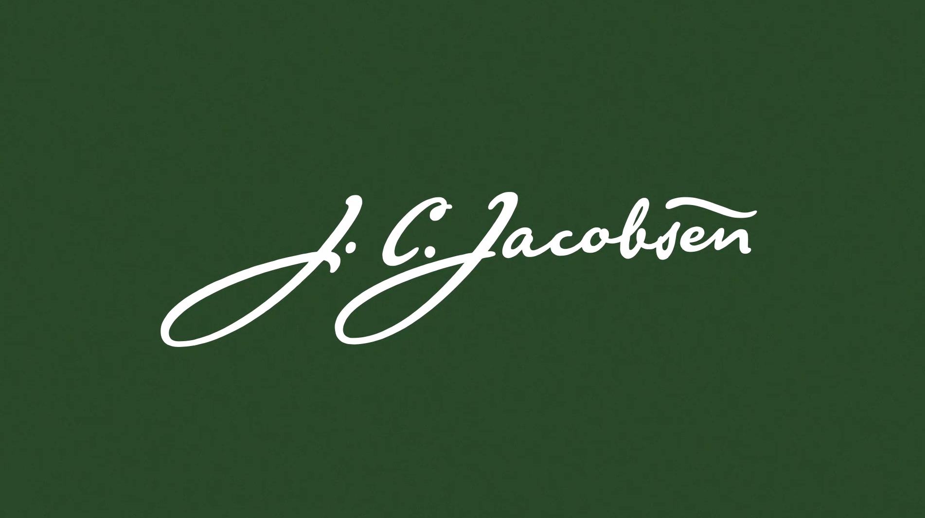 Founder JC Jacobsen signature before.