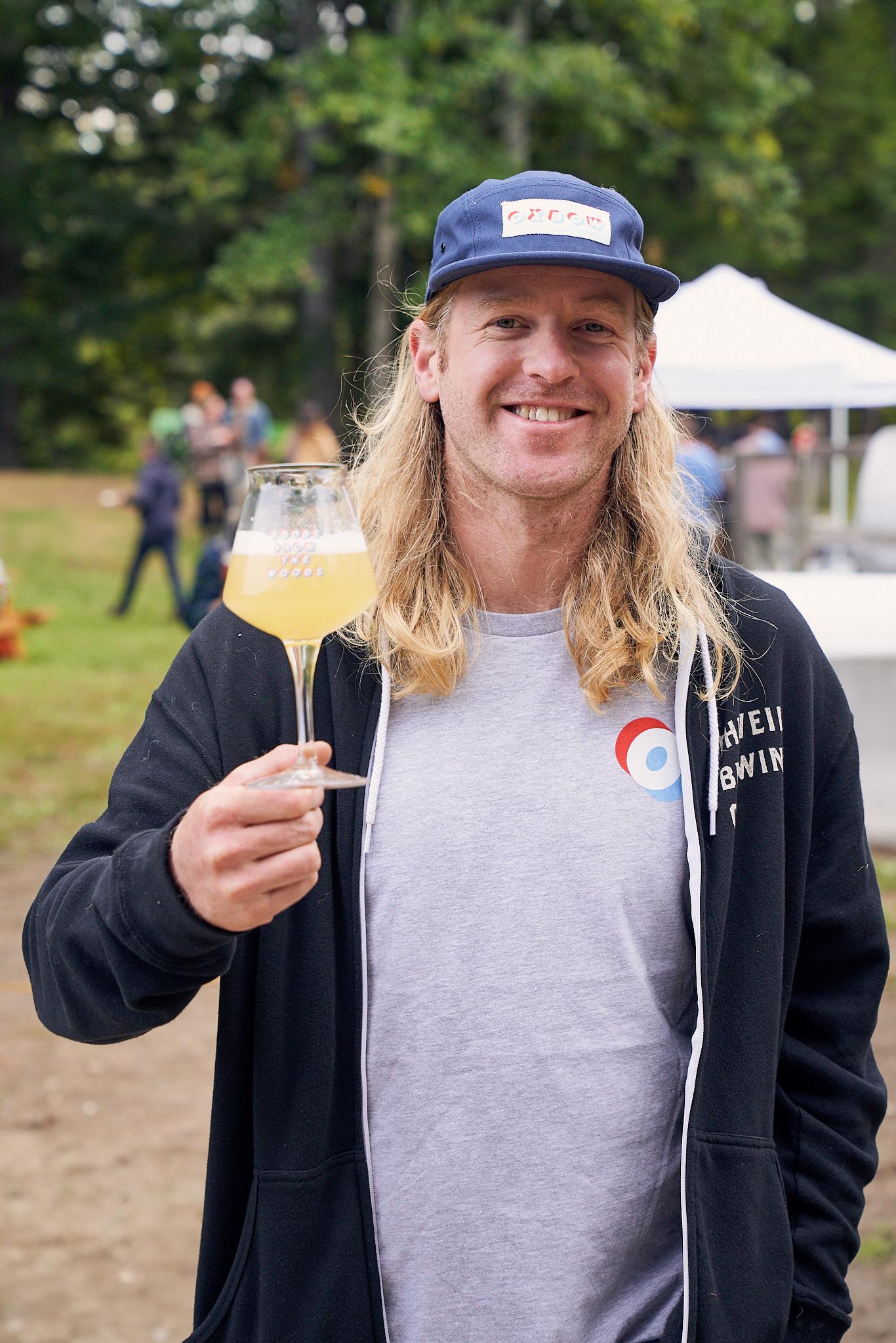 Oxbow Co-founder Tim Adams raises a glass.