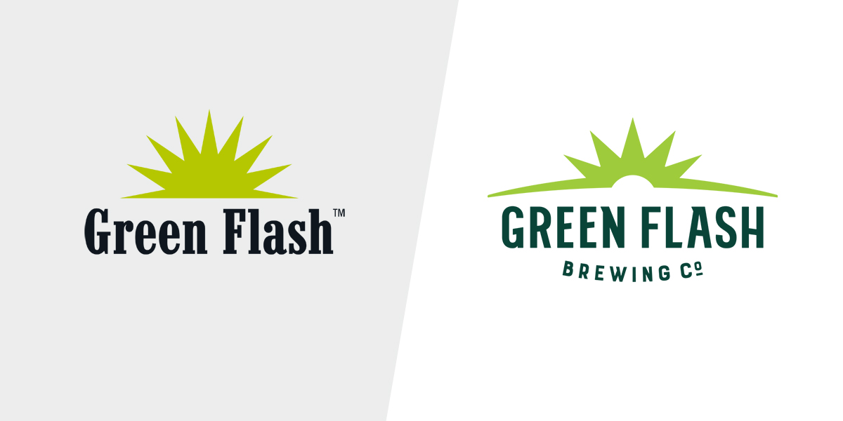 Logo before & after…thankfully.