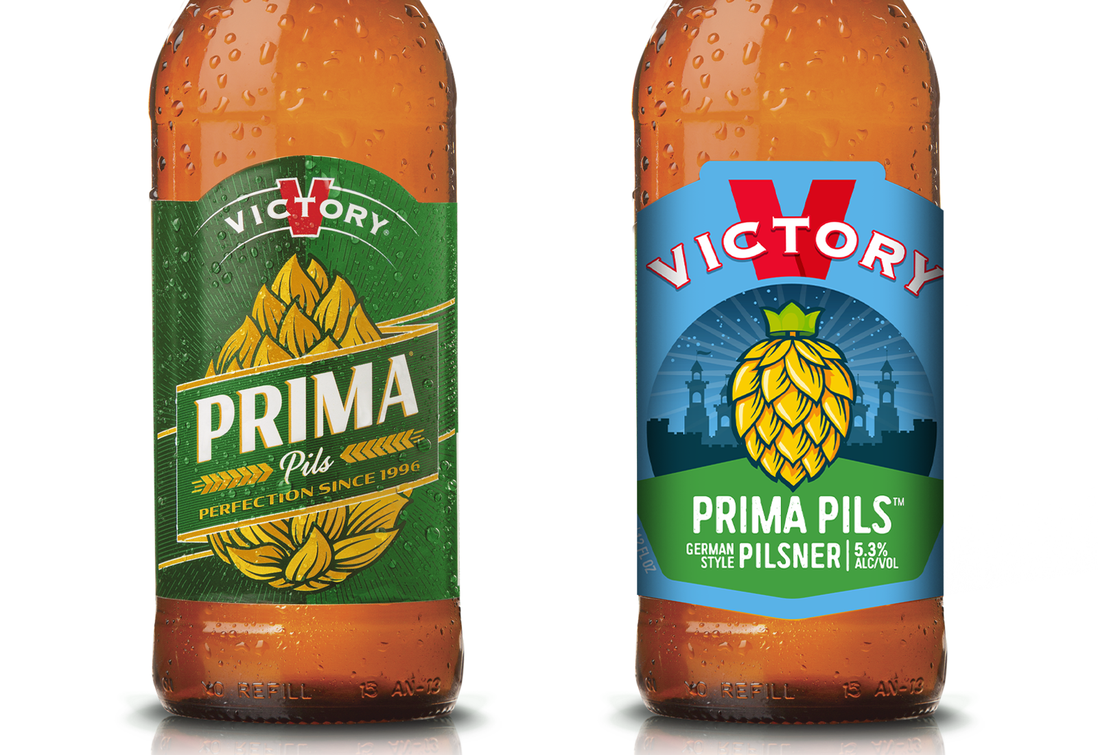 Prima Pils before & after