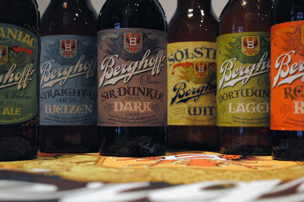 Images of the previous Berghoff Beer brand, from our visit with then-owner Ben Minkoff, in 2013.