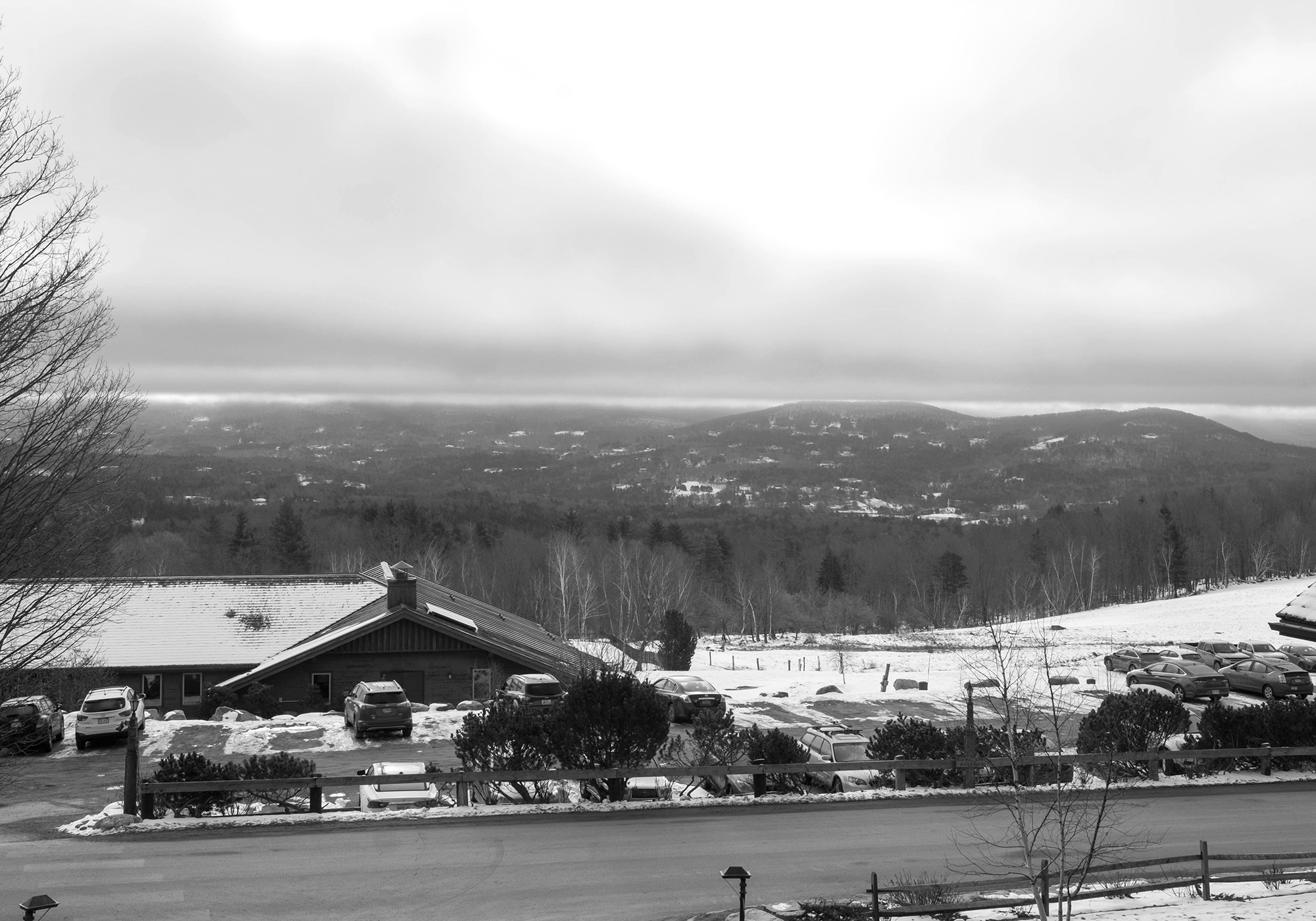 The view from the Trapp Family Lodge, overlooking Stowe.