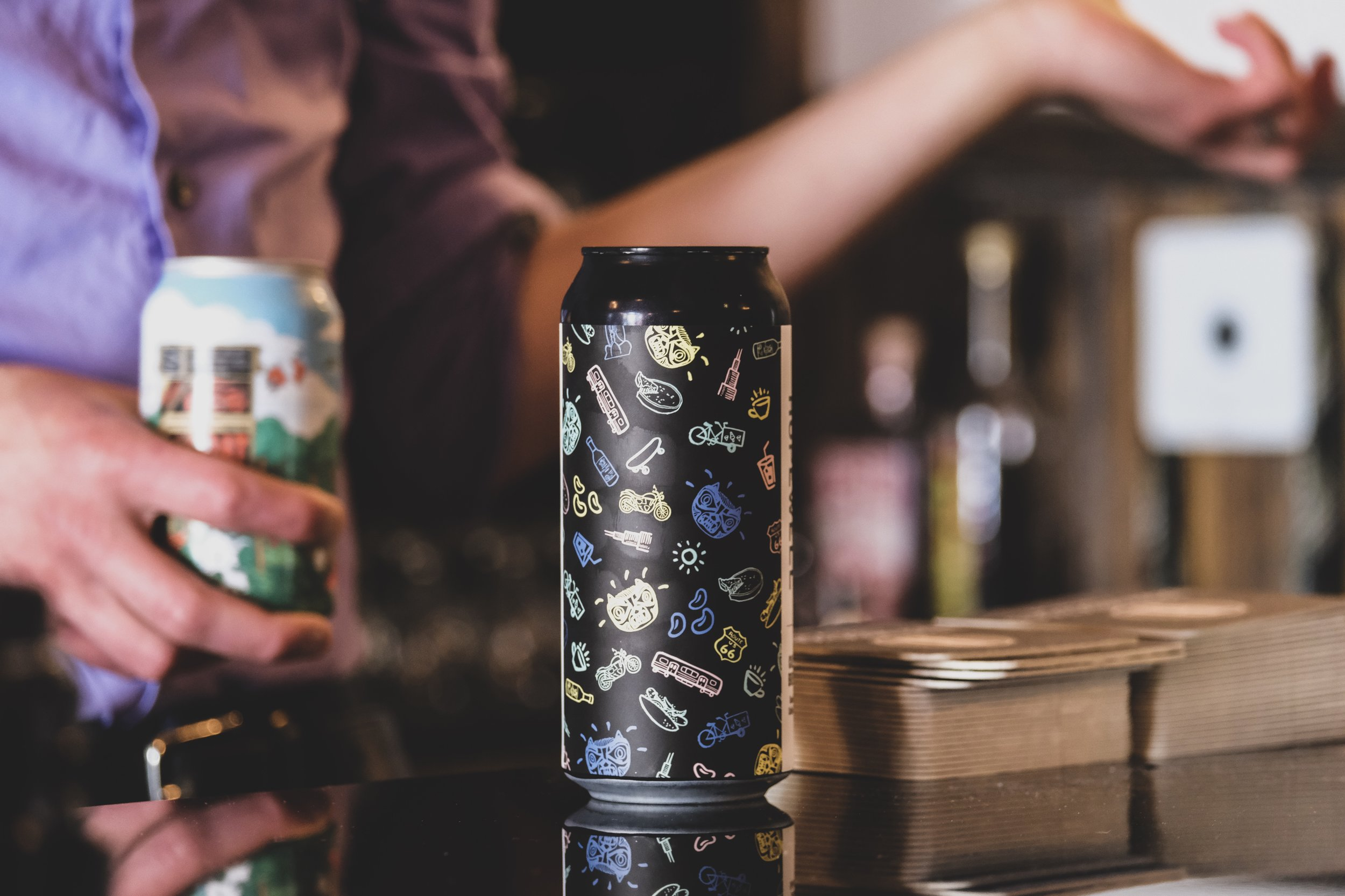 A can of  Cold Brew,  a collaboration between Chicago's Hopewell Brewing & Metric Coffee.