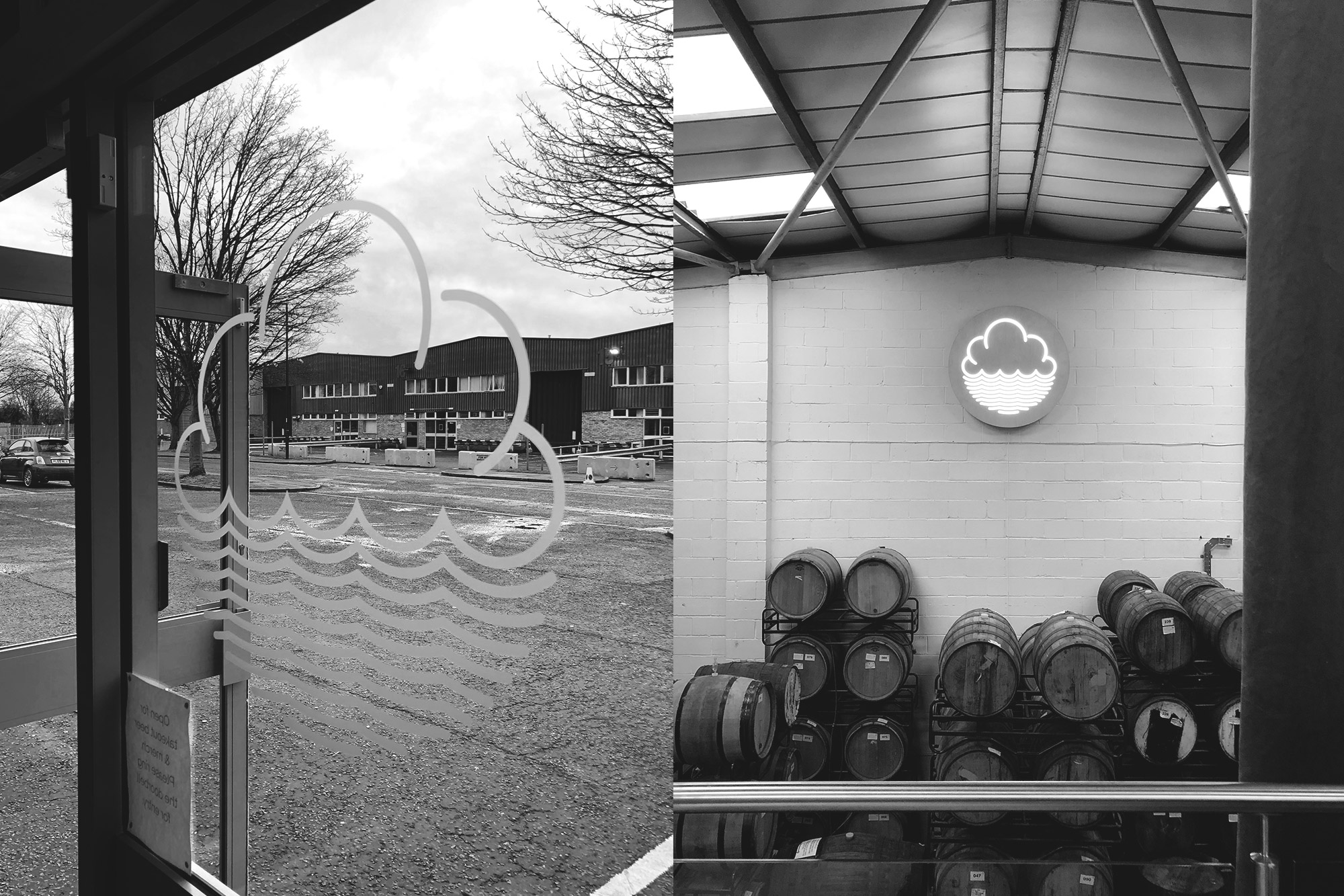 The Cloudwater brewery and taproom in an industrial stretch of Manchester's east end.
