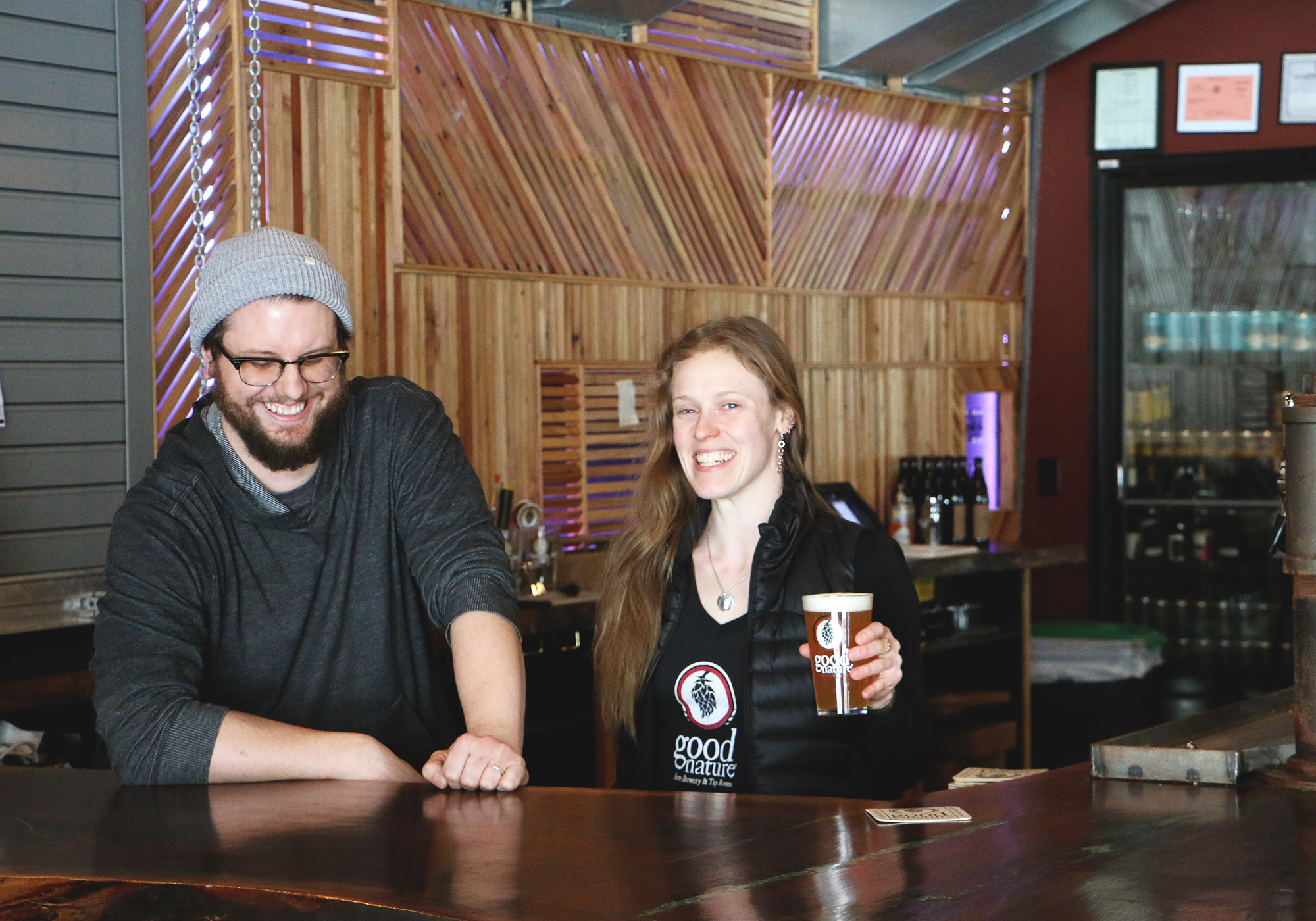 Head Brewer Chad Talboom & Owner Carrie Blackmore