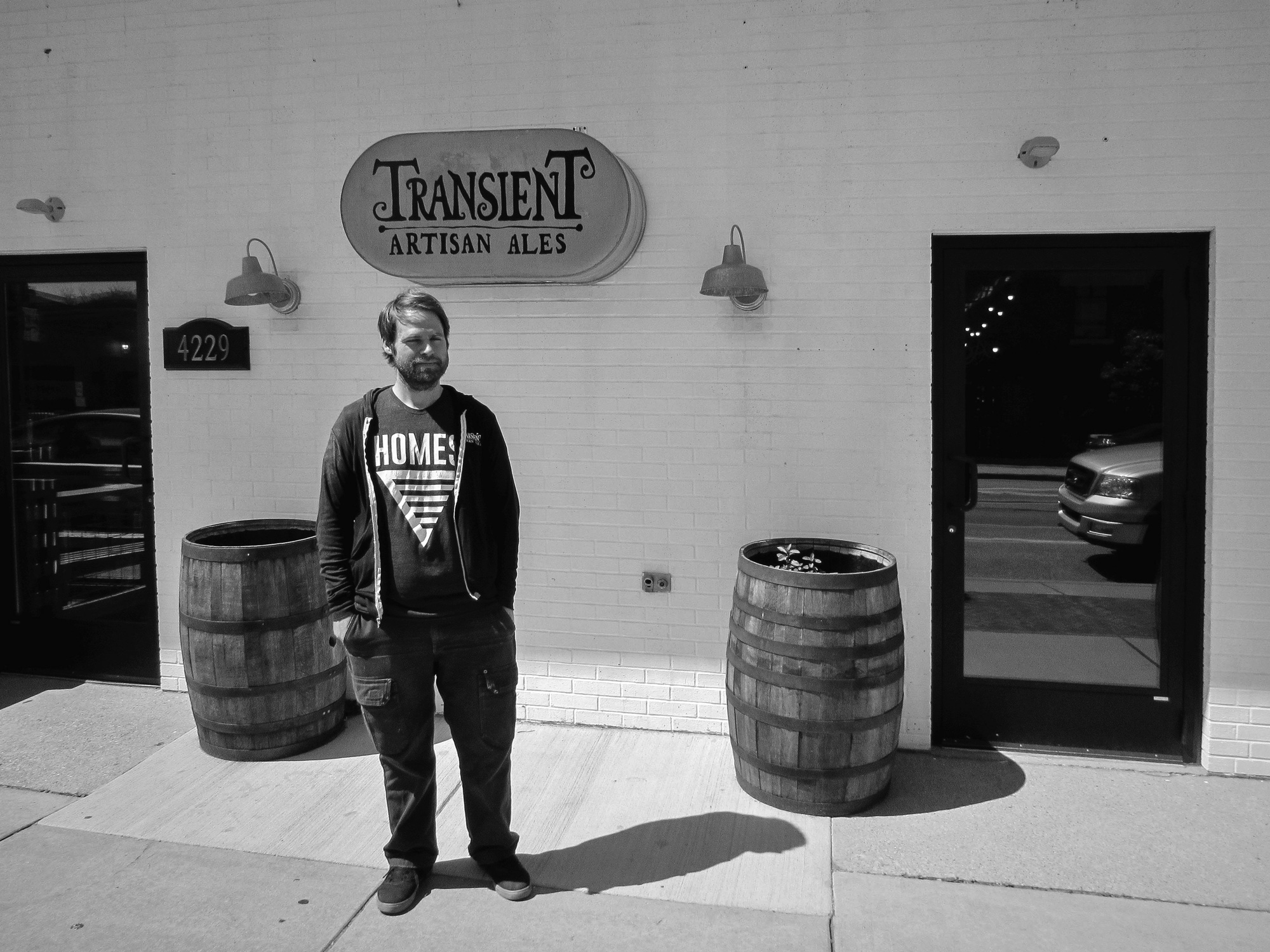 Transient Owner/Brewer, Chris Betts.