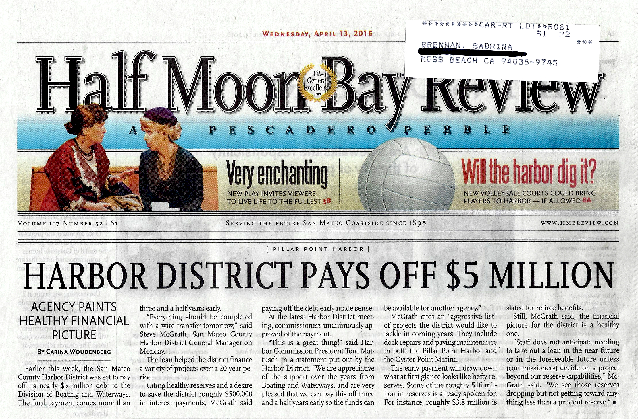 Harbor District Five Million Debt Payoff