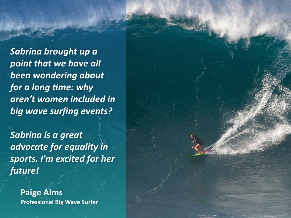 Paige Alms Professional Big Wave Surfer